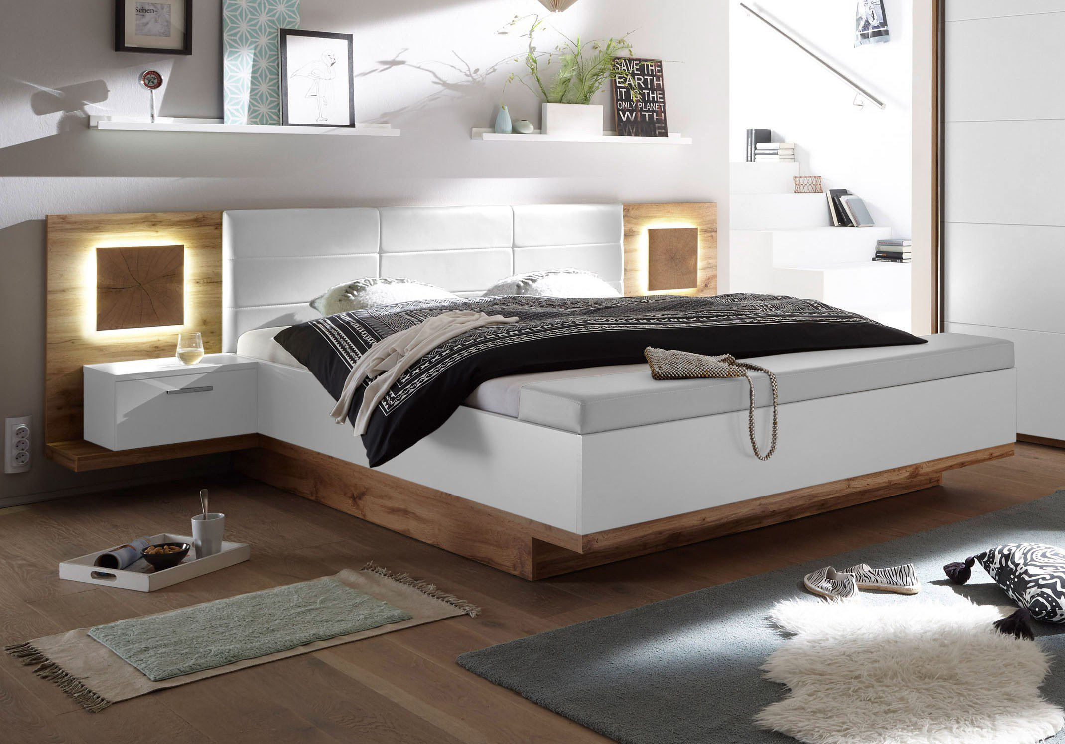 pol power bett mit bettbank capri xl m bel letz ihr online shop. Black Bedroom Furniture Sets. Home Design Ideas