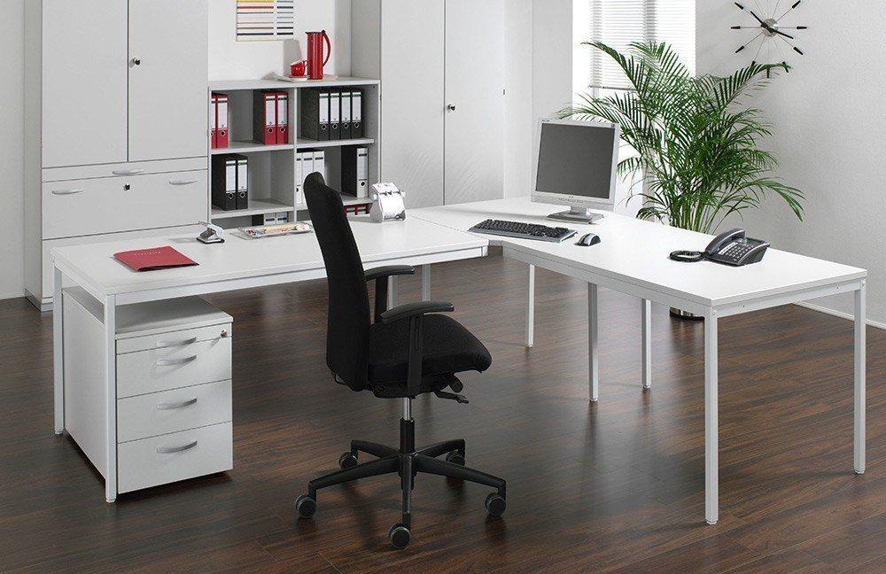 geramöbel Büromöbelset Eco lichtgrau | Möbel Letz - Ihr Online-Shop