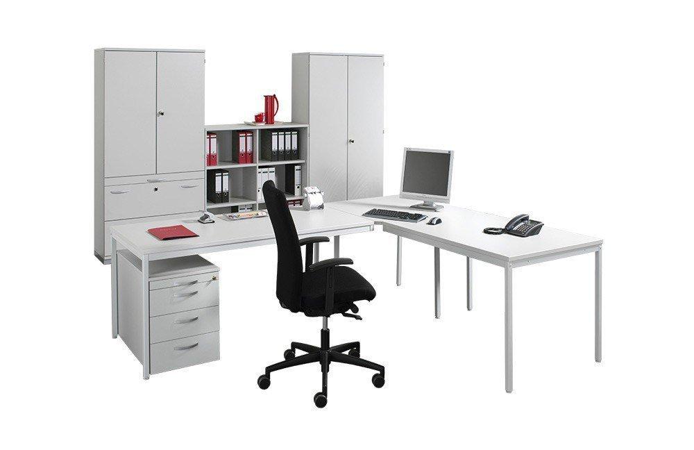 geramöbel Büromöbelset Eco lichtgrau   Möbel Letz - Ihr Online-Shop