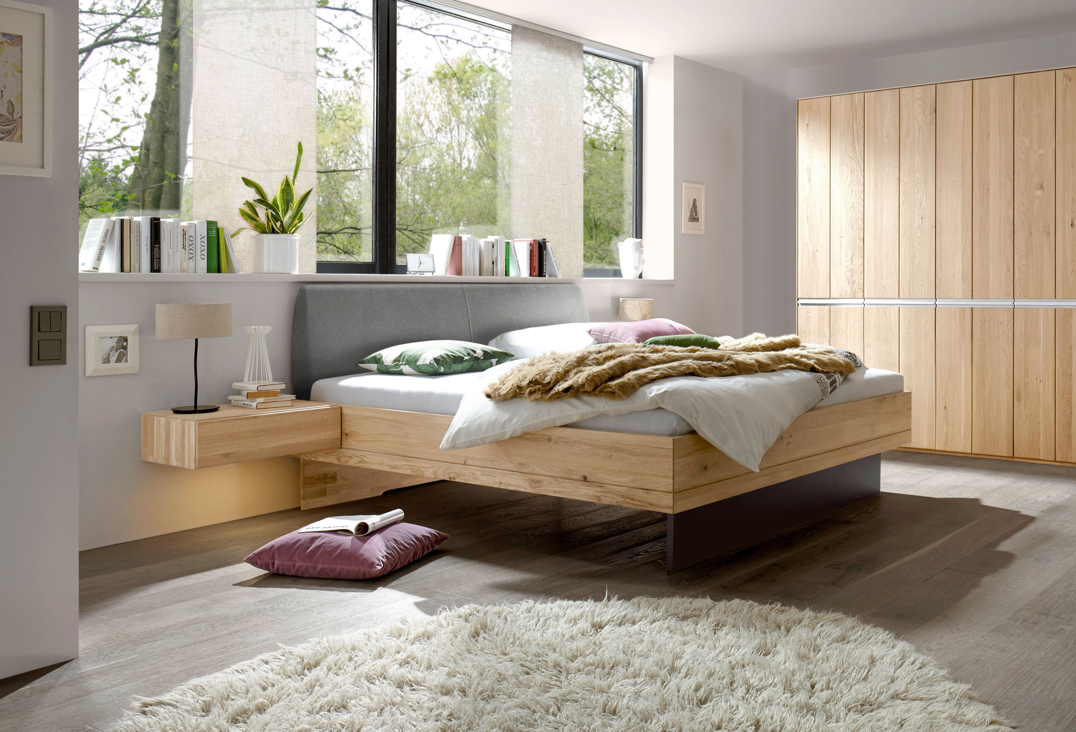 Schwebendes Bett Simple Holzbett U Massive Betten Aus Holz In