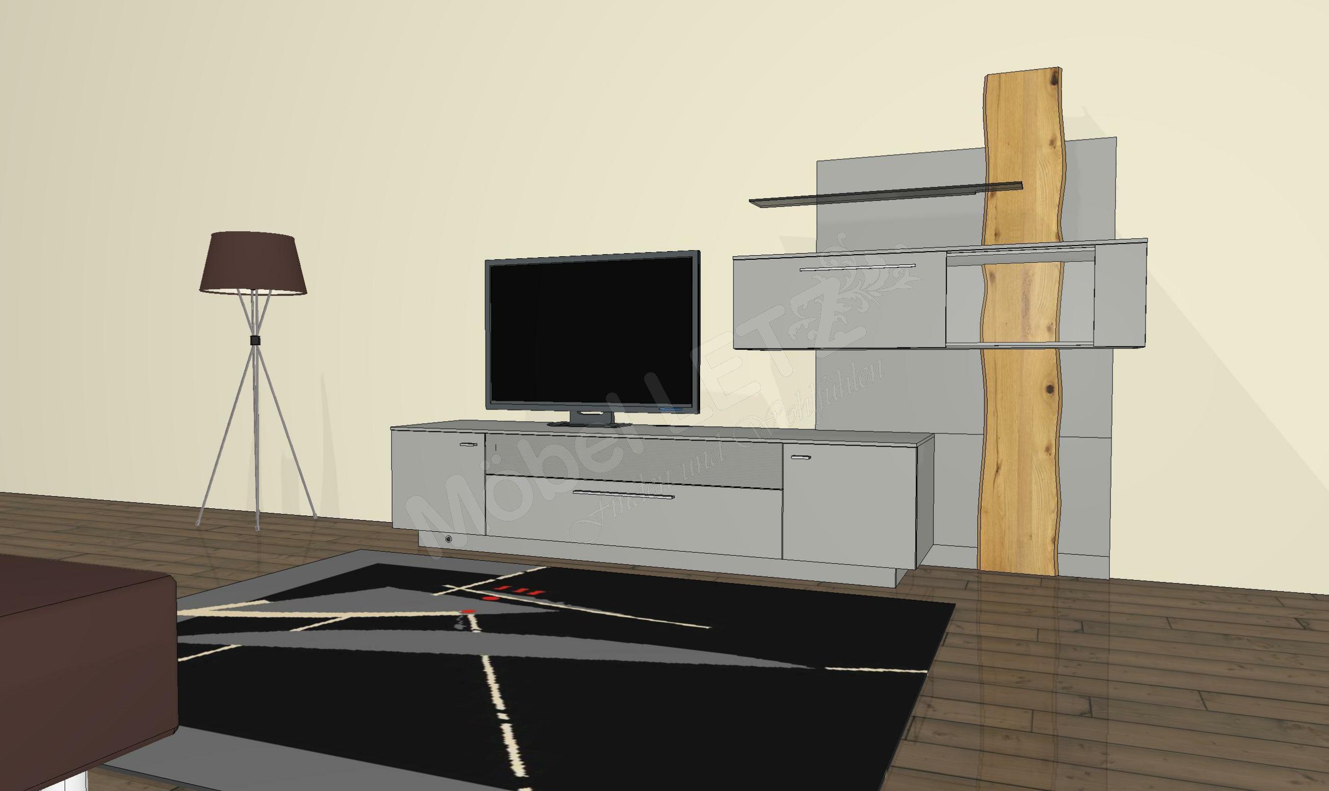 gwinner wohnwand lucca lc4 inklusive beleuchtung m bel letz ihr online shop. Black Bedroom Furniture Sets. Home Design Ideas