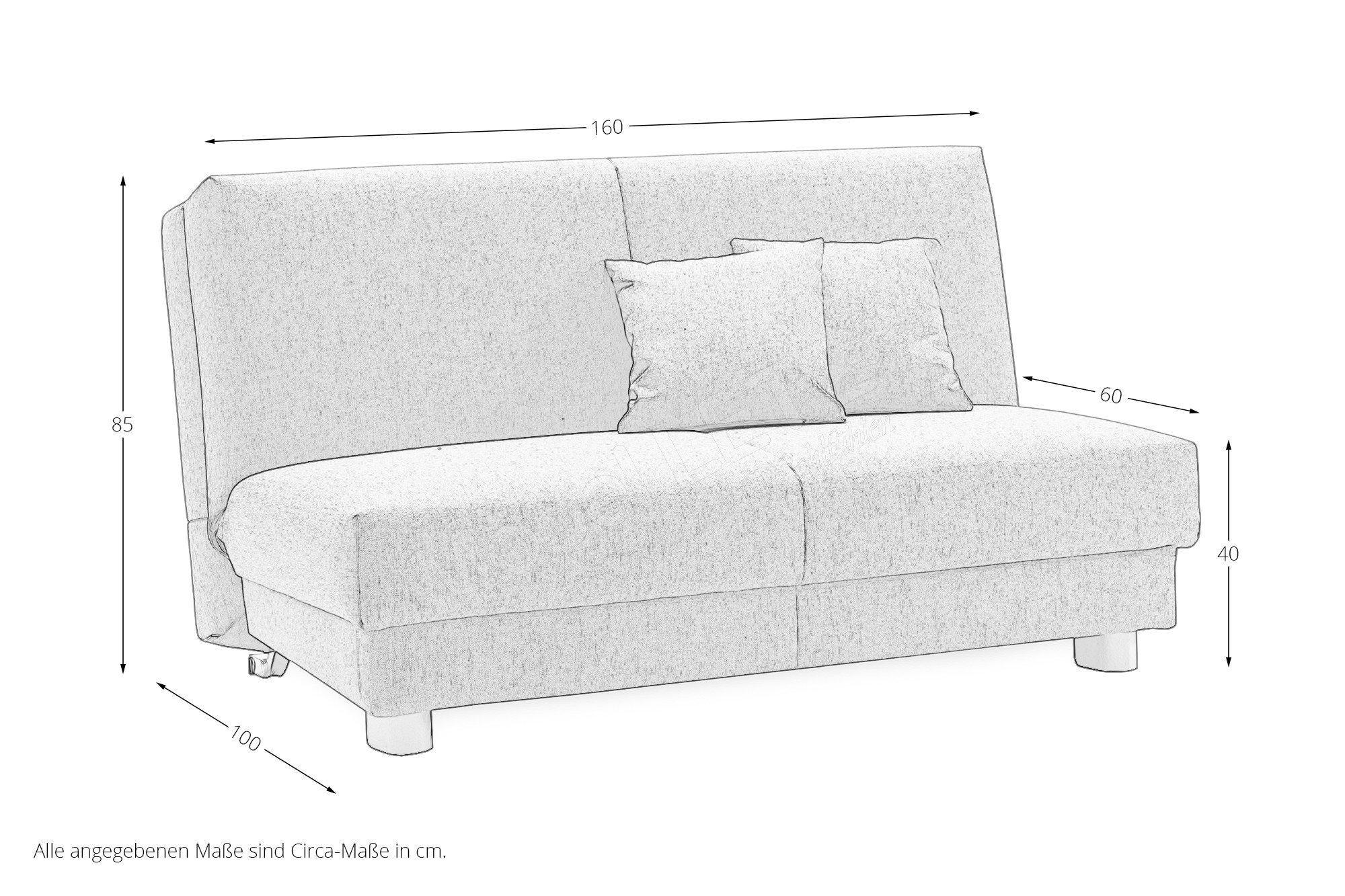 ell ell emma schlafsofa in hellgrau m bel letz ihr online shop. Black Bedroom Furniture Sets. Home Design Ideas