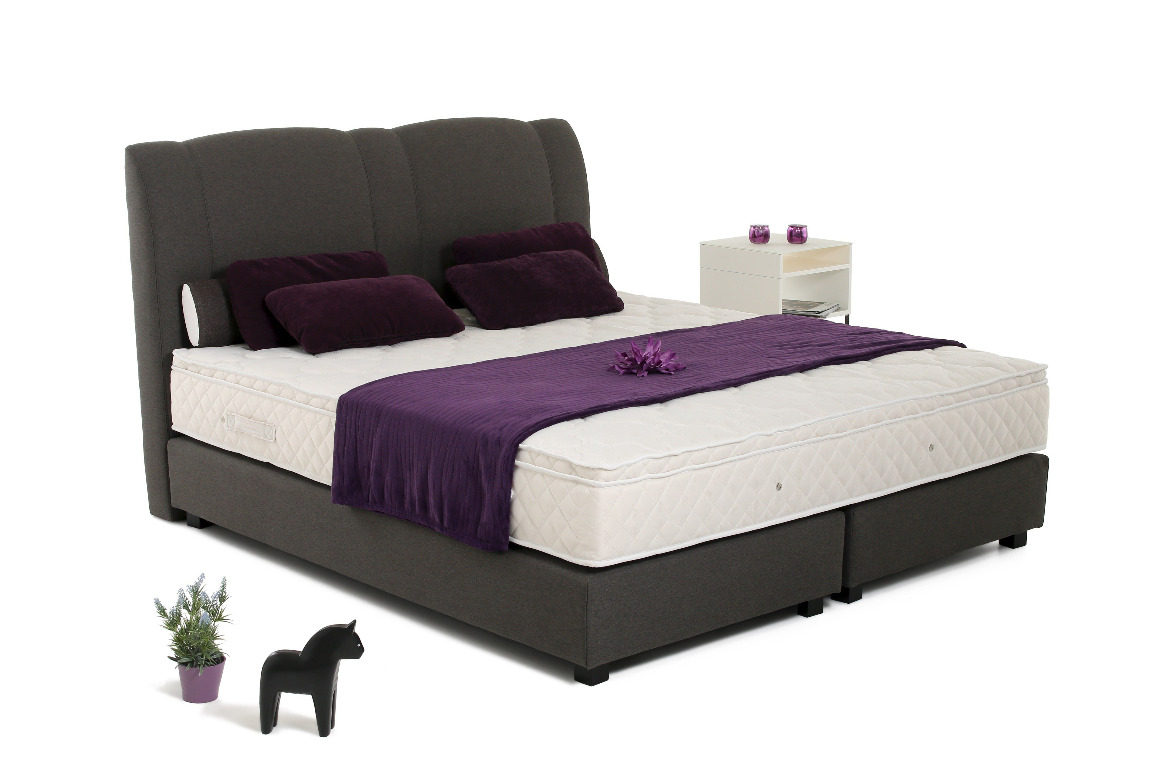 skandinavische m bel boxspringbett majken im zeitlosen dunkelgrau m bel letz ihr online shop. Black Bedroom Furniture Sets. Home Design Ideas