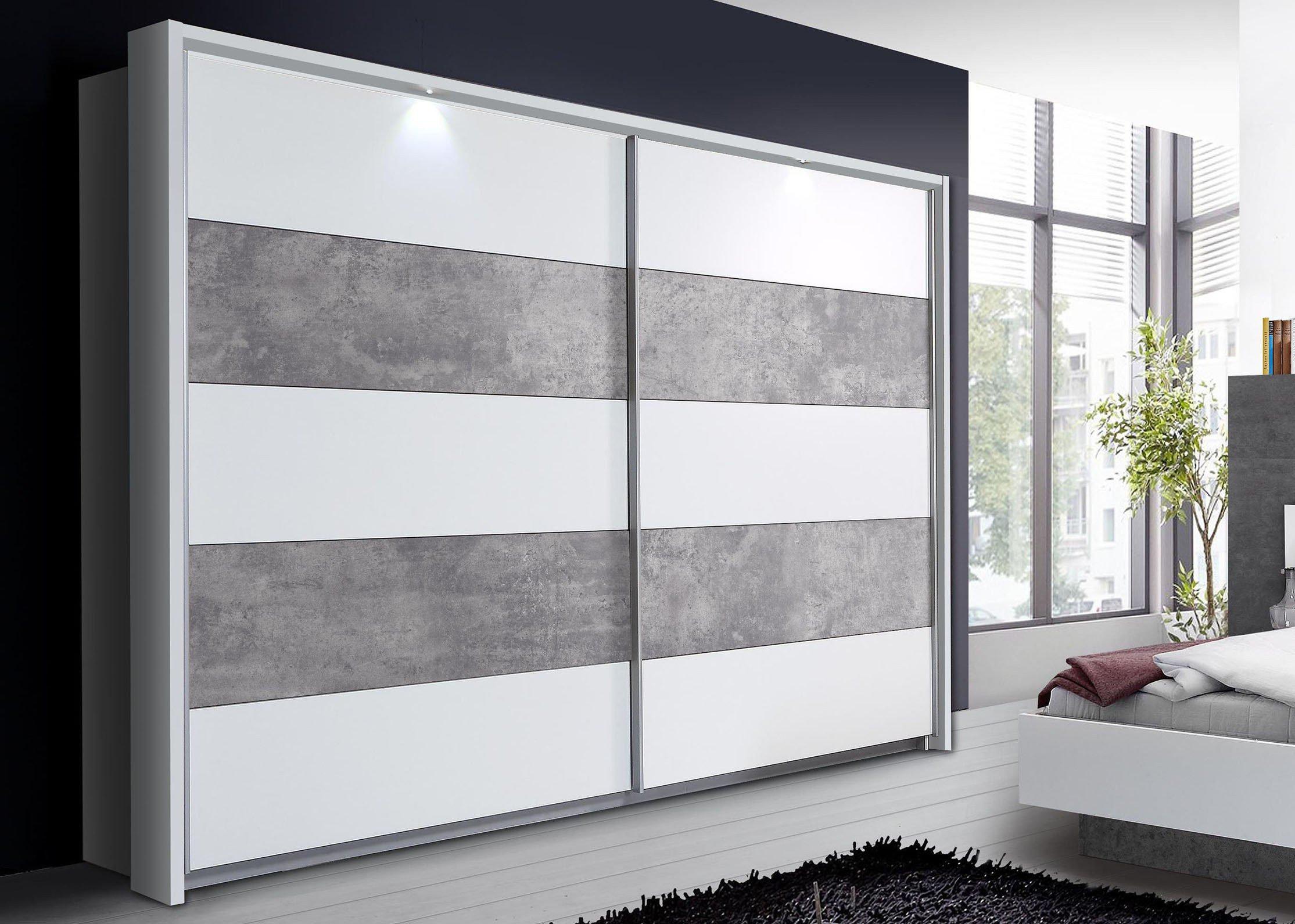 Forte Ginger Schrank Betonoptik | Möbel Letz - Ihr Online-Shop