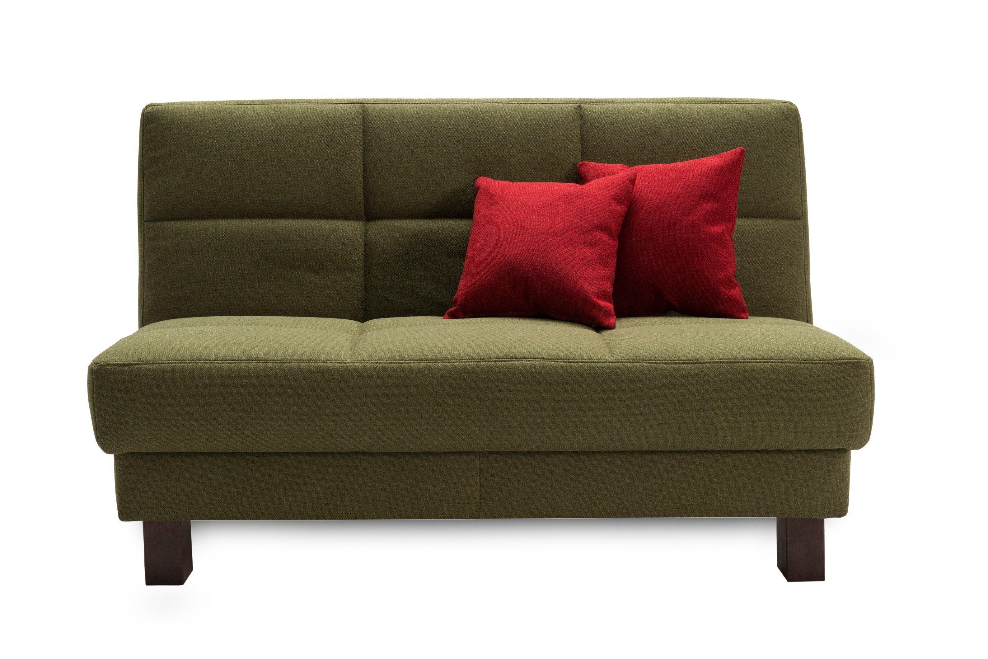 ell ell tilda schlafsofa gr n mit holzf en wengefarbig m bel letz ihr online shop. Black Bedroom Furniture Sets. Home Design Ideas