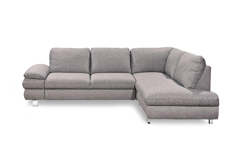 Eckcouch grau  New Look Möbel Manhattan Ecksofa in Hellgrau | Möbel Letz - Ihr ...