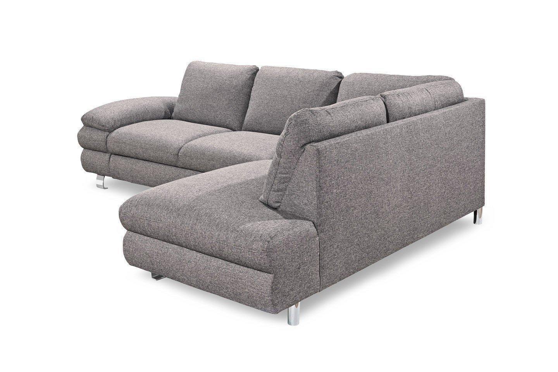 new look m bel manhattan ecksofa in hellgrau m bel letz ihr online shop. Black Bedroom Furniture Sets. Home Design Ideas