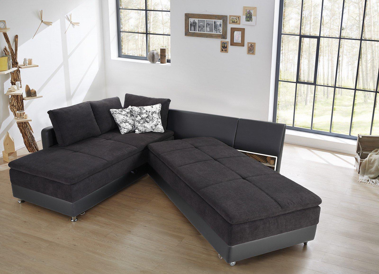 jockenh fer modena eckgarnitur in schwarz m bel letz ihr online shop. Black Bedroom Furniture Sets. Home Design Ideas