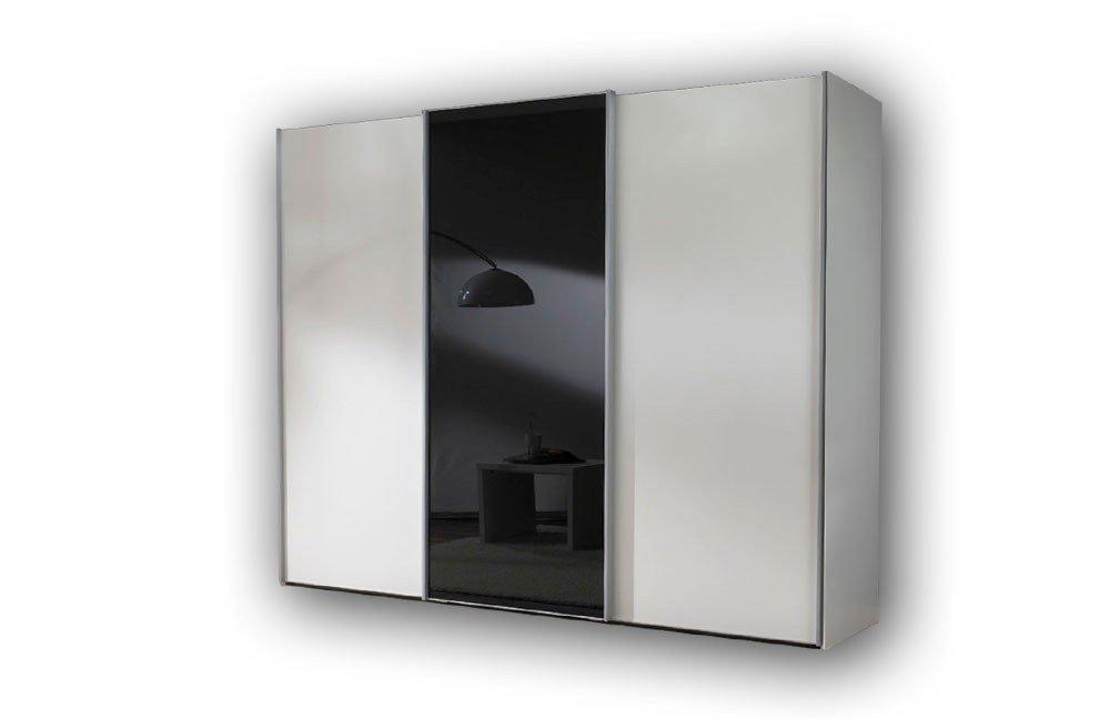 Miami Von Wiemann   Kleiderschrank Weiß   Glas Schwarz