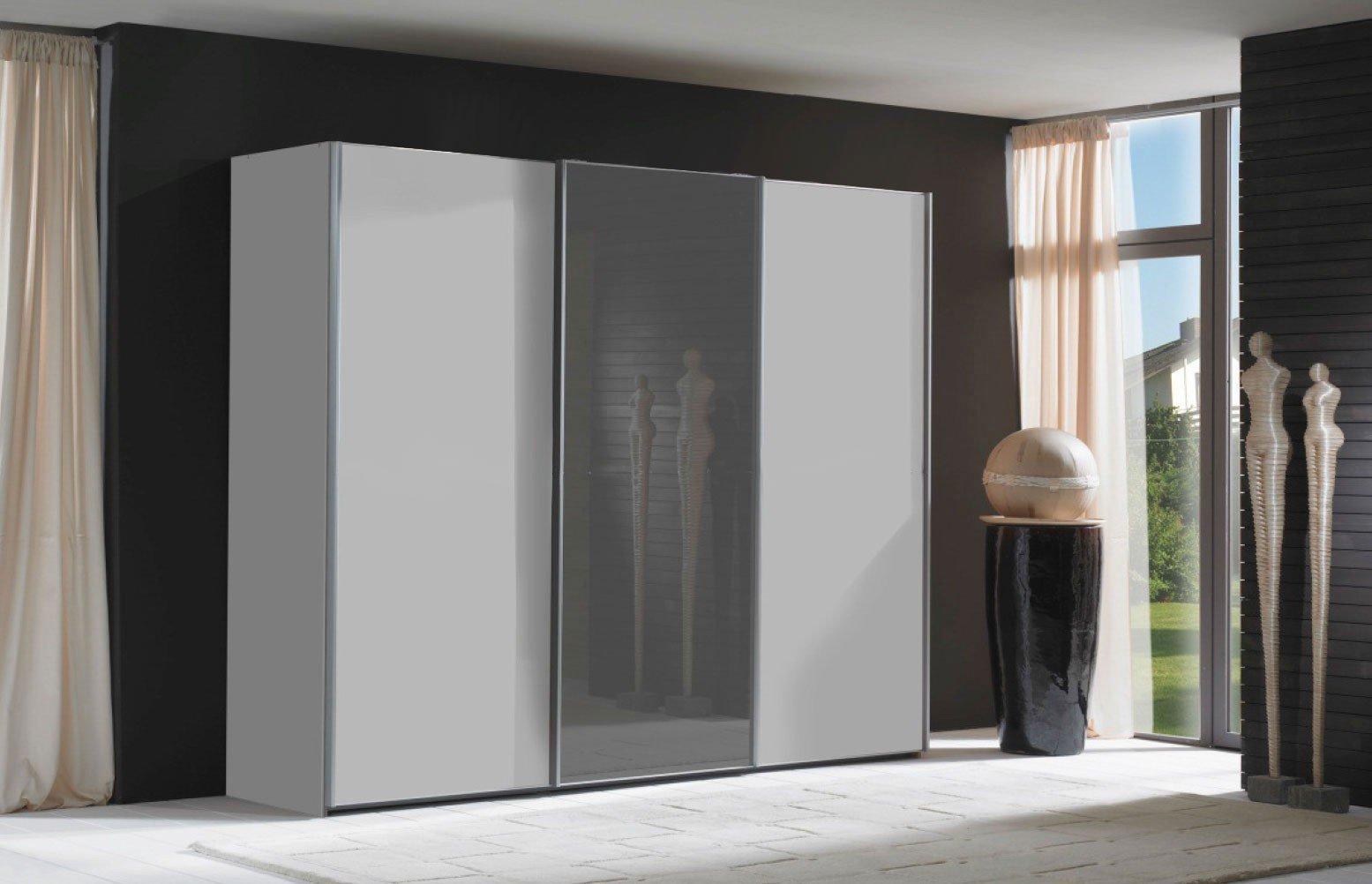 Superb Einfache Dekoration Und Mobel Individuelle Schraenke Made In Germany 2 #10: Miami Von Wiemann - Schrank Alpinweiß - Graphit-Glas