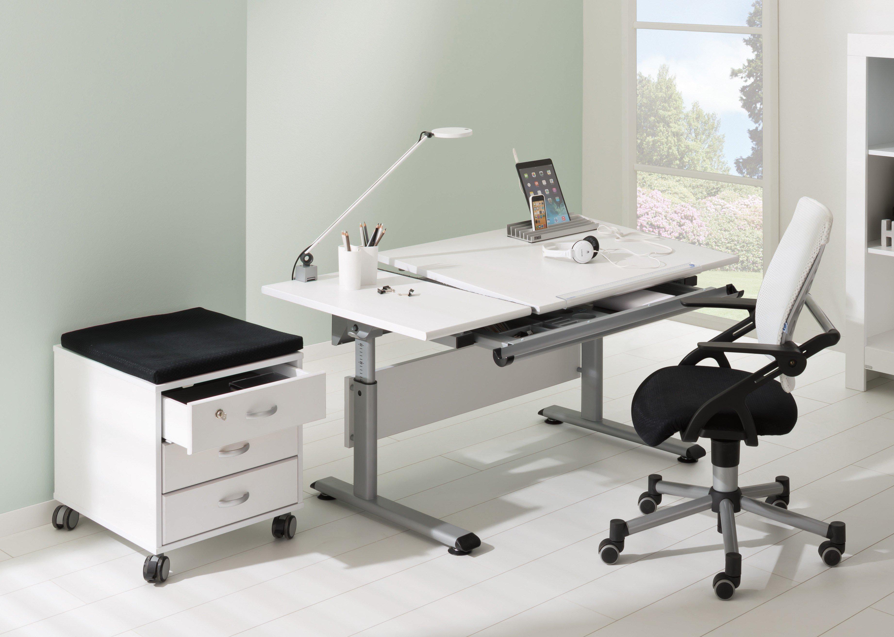 Kinderschreibtisch weiß paidi  Paidi Marco 2 130 GT Schreibtisch weiß - Platte geteilt | Möbel ...