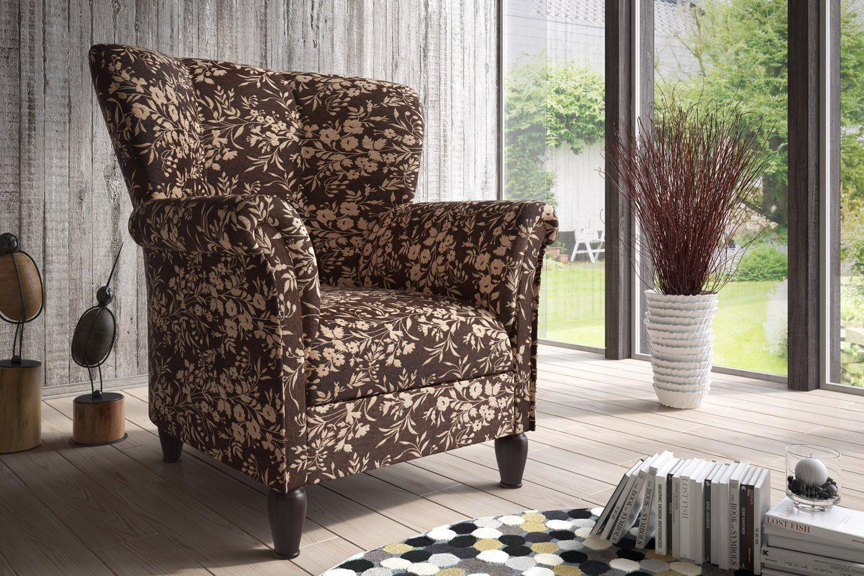 new look strawinsky sessel in dunkelbraun beige m bel letz ihr online shop. Black Bedroom Furniture Sets. Home Design Ideas