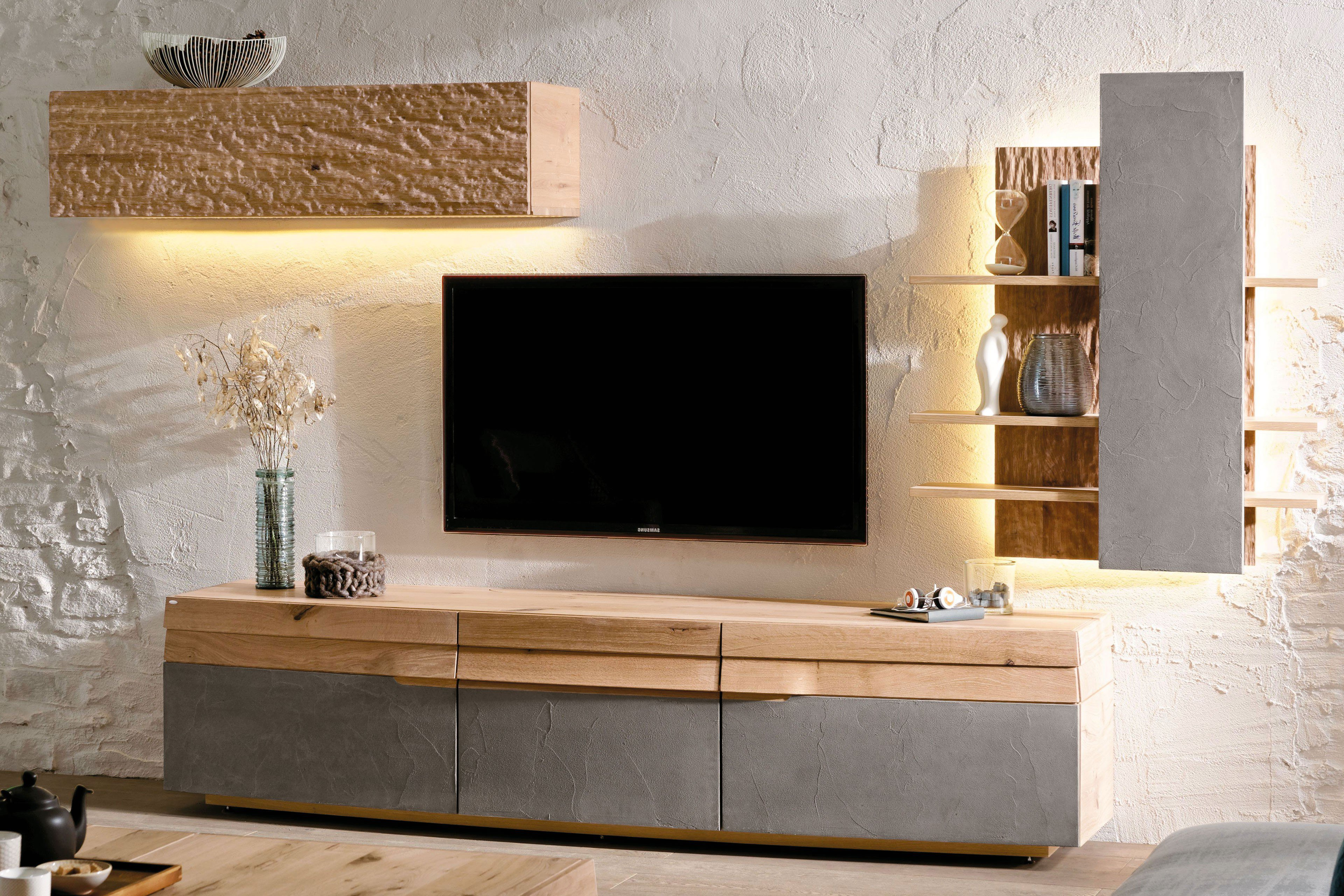 voglauer lowboard opus 224 wildeiche beton m bel letz ihr online shop. Black Bedroom Furniture Sets. Home Design Ideas