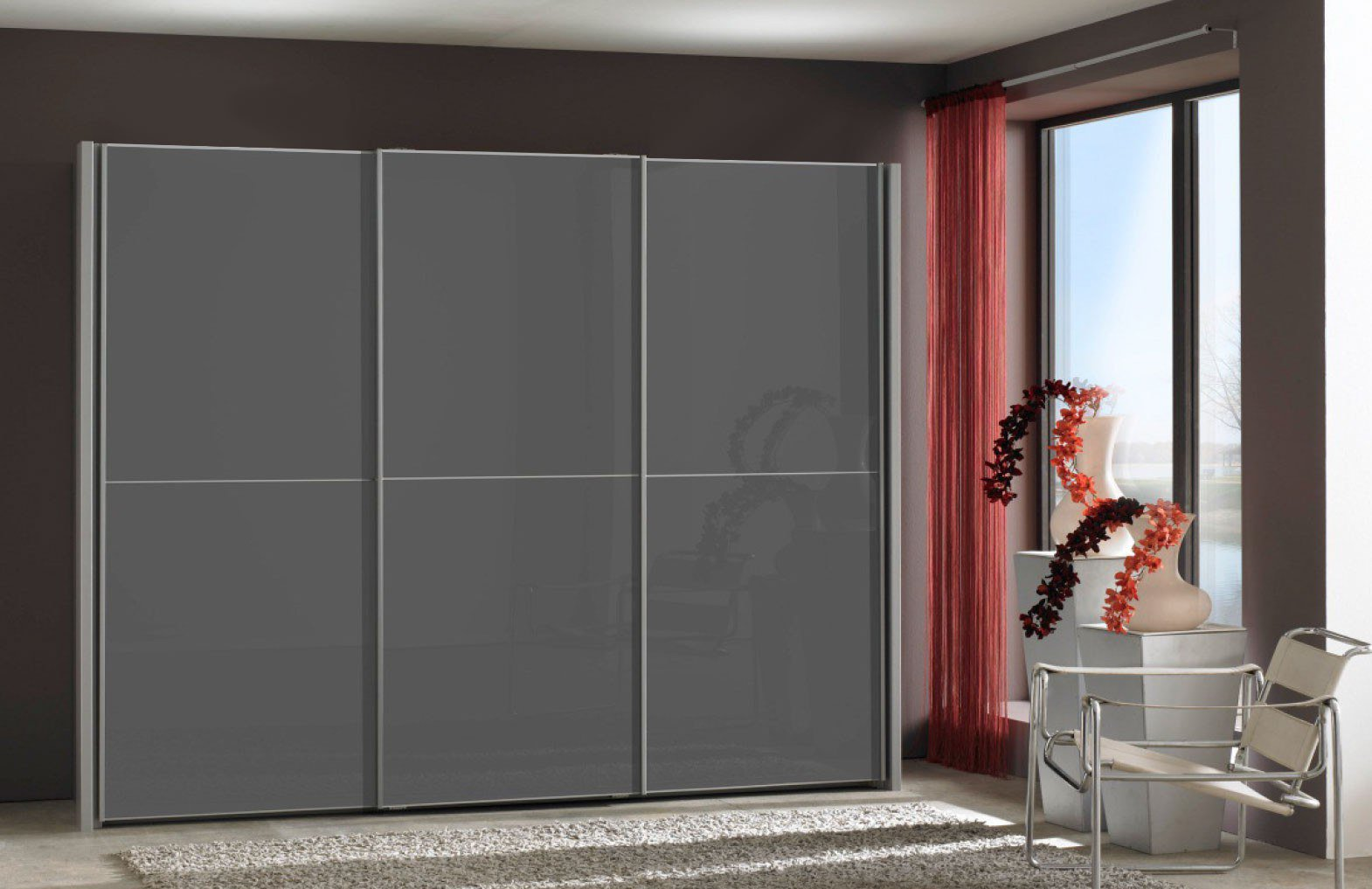 wiemann miami kleiderschrank 3 t rig grau m bel letz ihr online shop. Black Bedroom Furniture Sets. Home Design Ideas