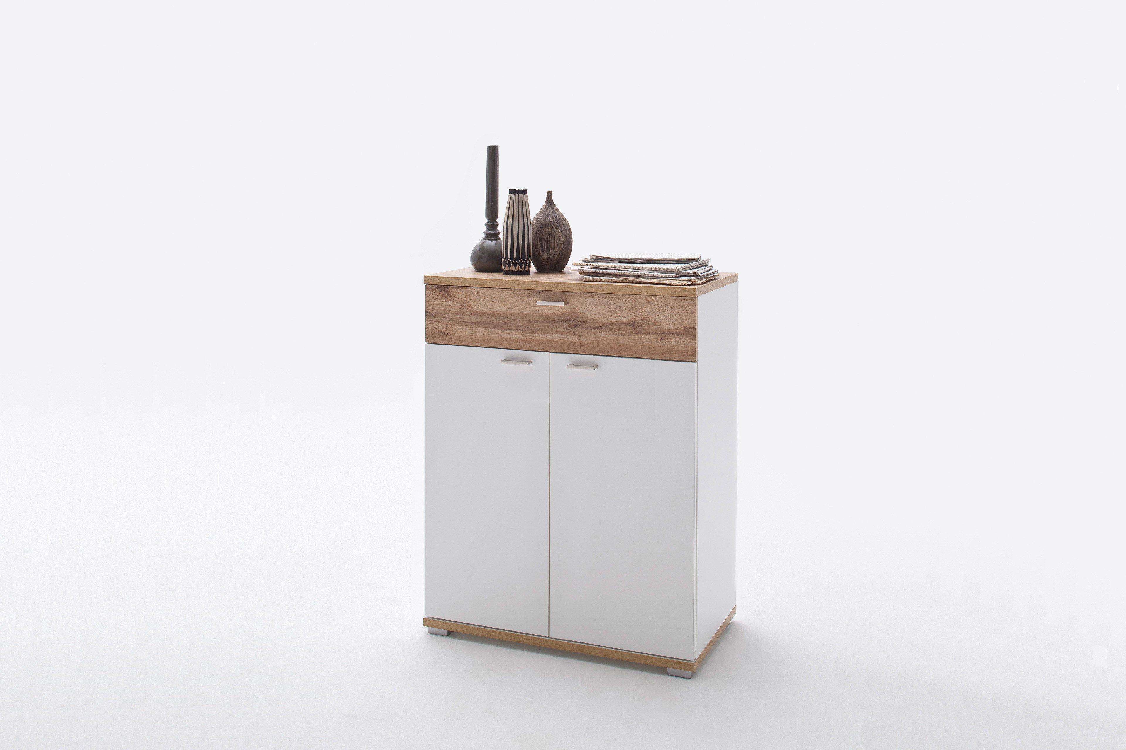 Garderobenkommode Nia In Wotan Eiche Weiss Mca Furniture Mobel