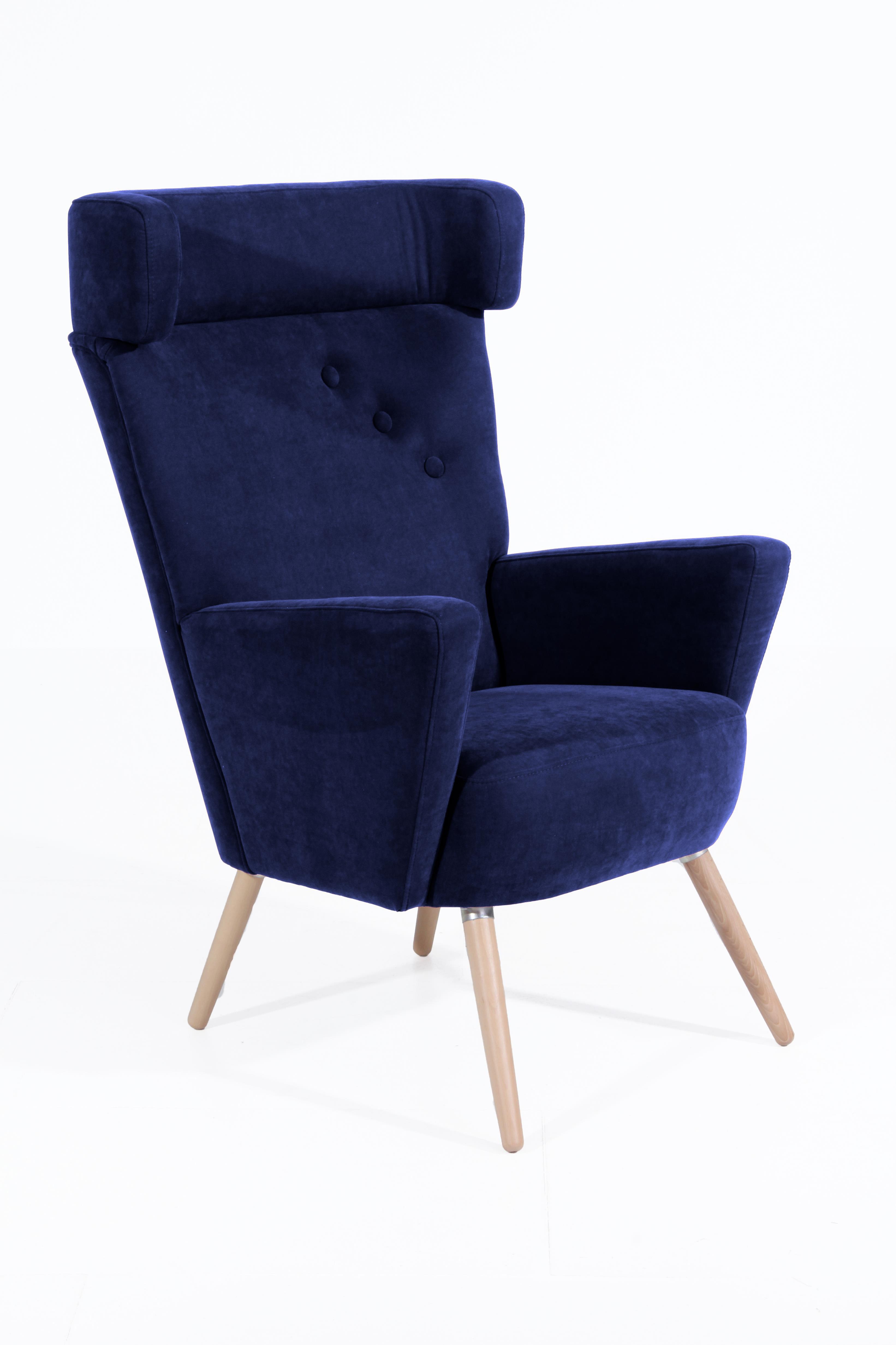 max winzer hajo ohrensessel in blau m bel letz ihr online shop. Black Bedroom Furniture Sets. Home Design Ideas