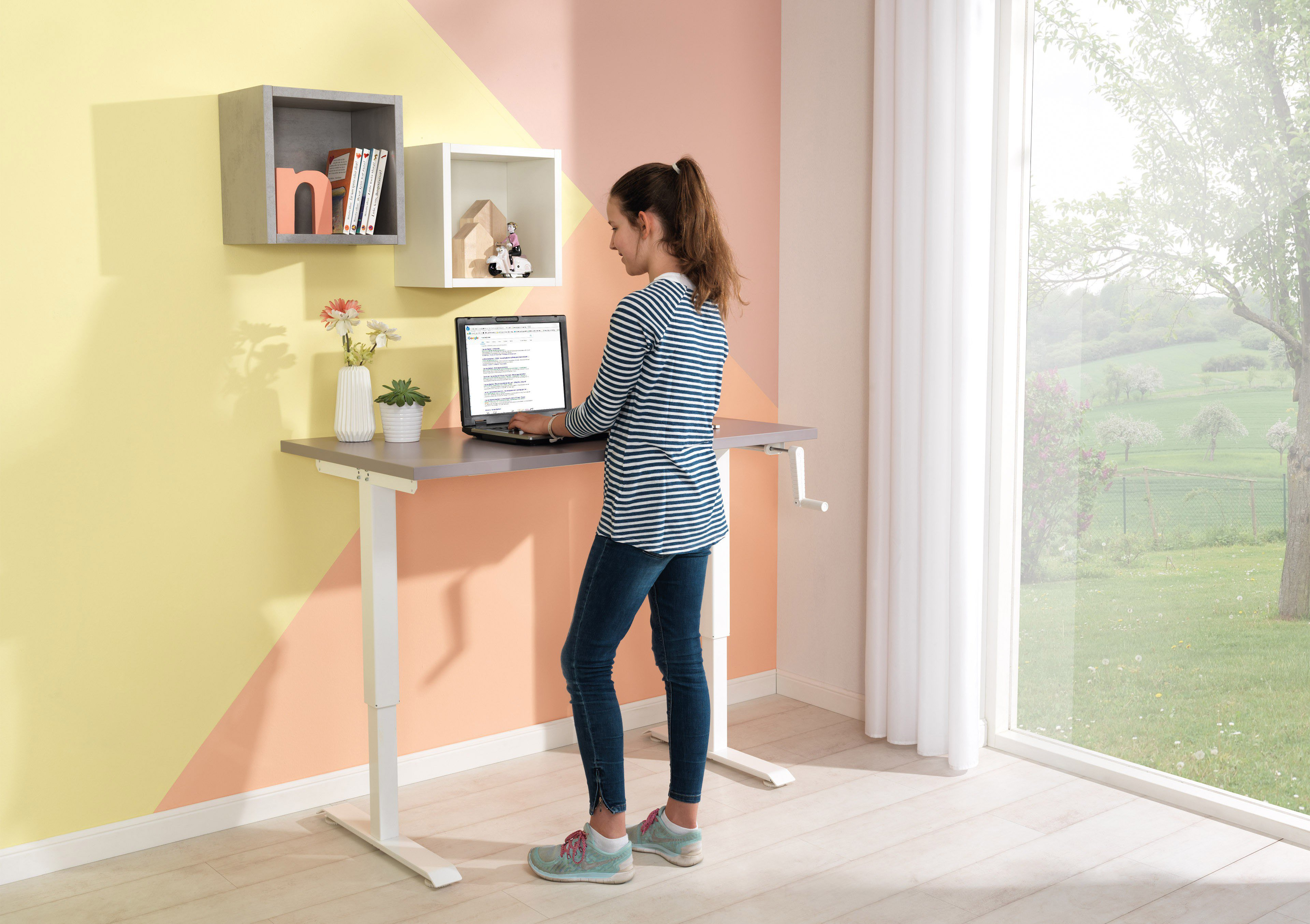 Wellemöbel GROW UP Schreibtisch lilac grey | Möbel Letz - Ihr ...