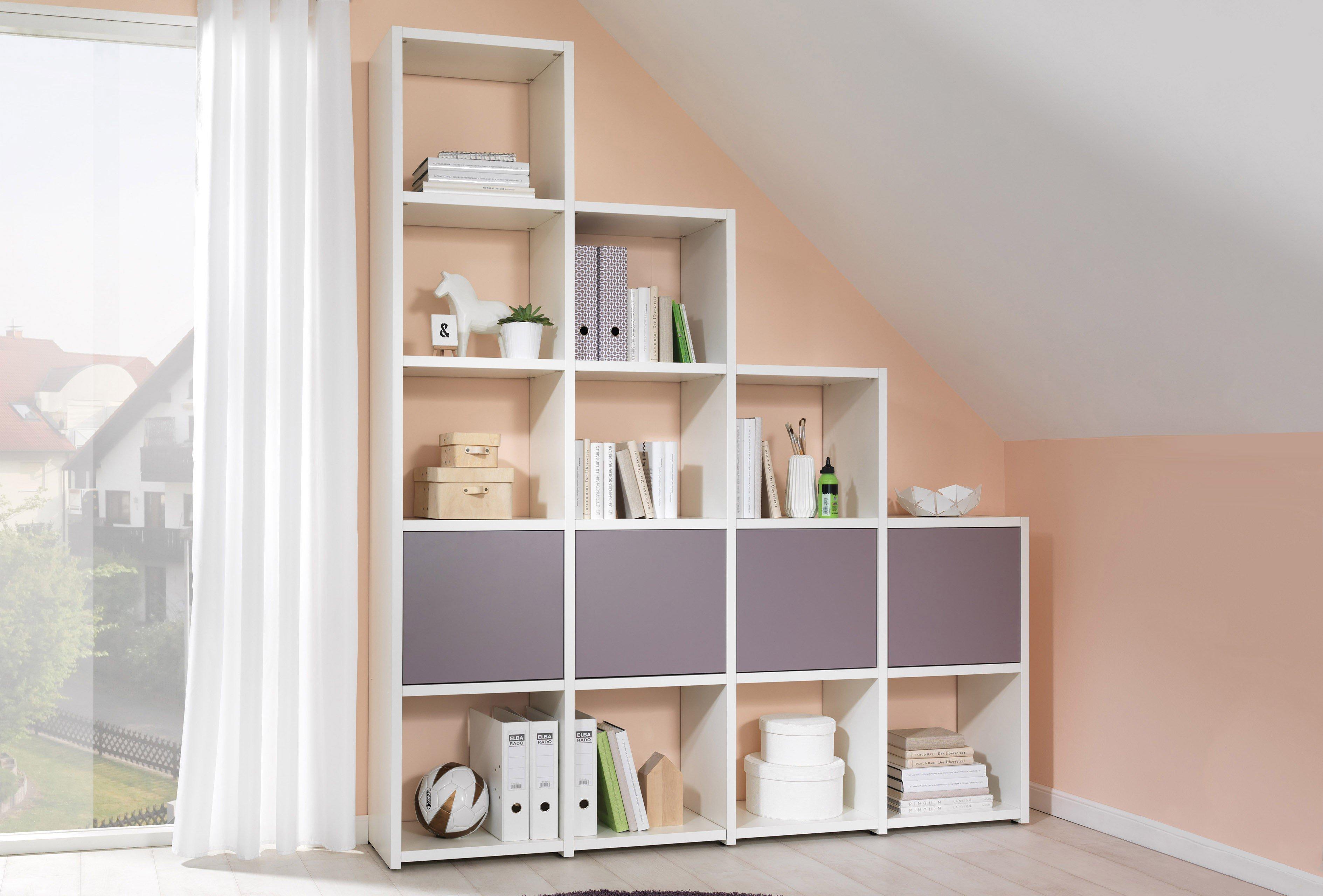 Wellemöbel Stufenregal weiß - lilac grey   Möbel Letz - Ihr Online-Shop