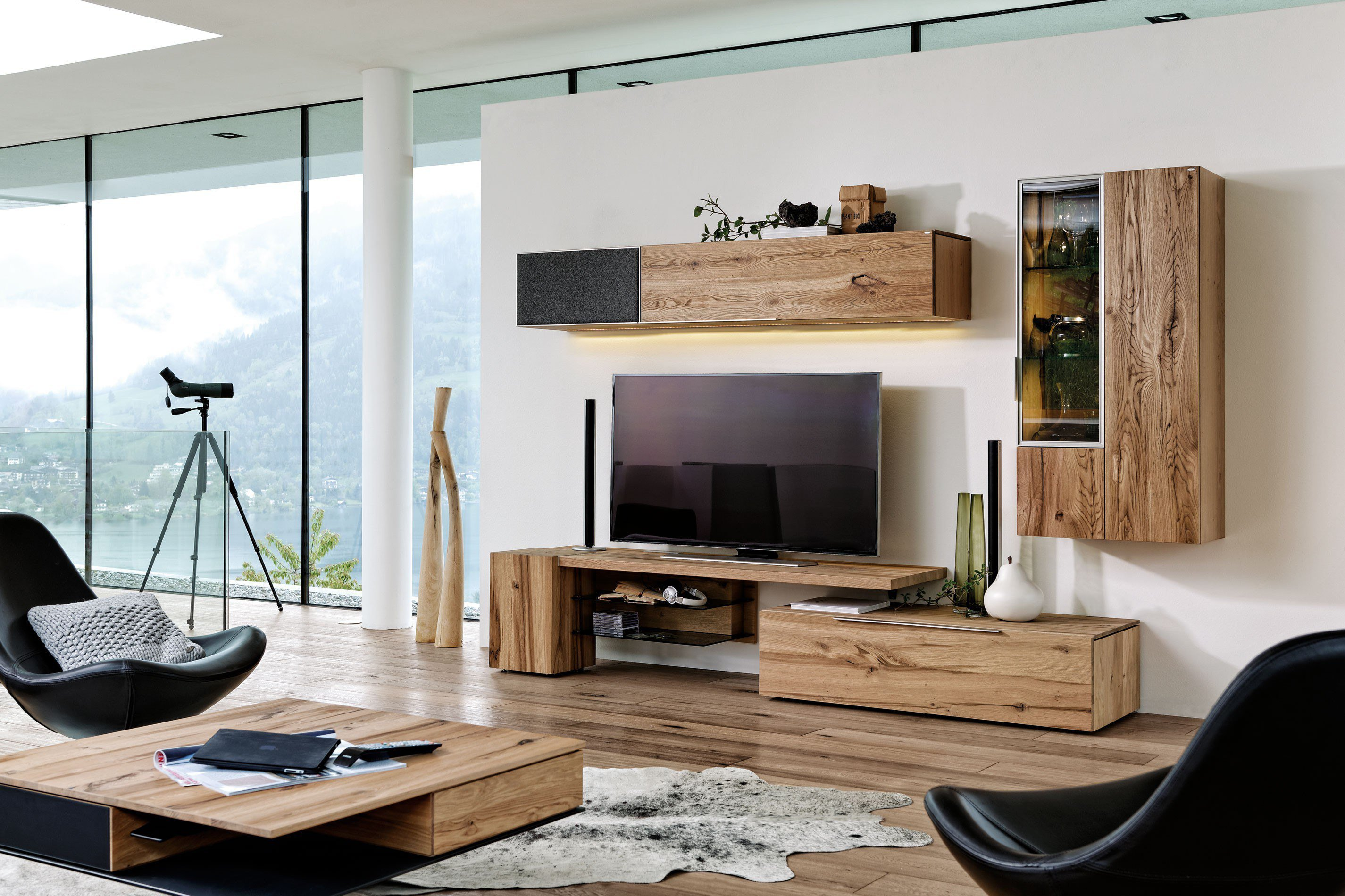 voglauer wohnwand v alpin 140 eiche loden grau m bel letz ihr online shop. Black Bedroom Furniture Sets. Home Design Ideas