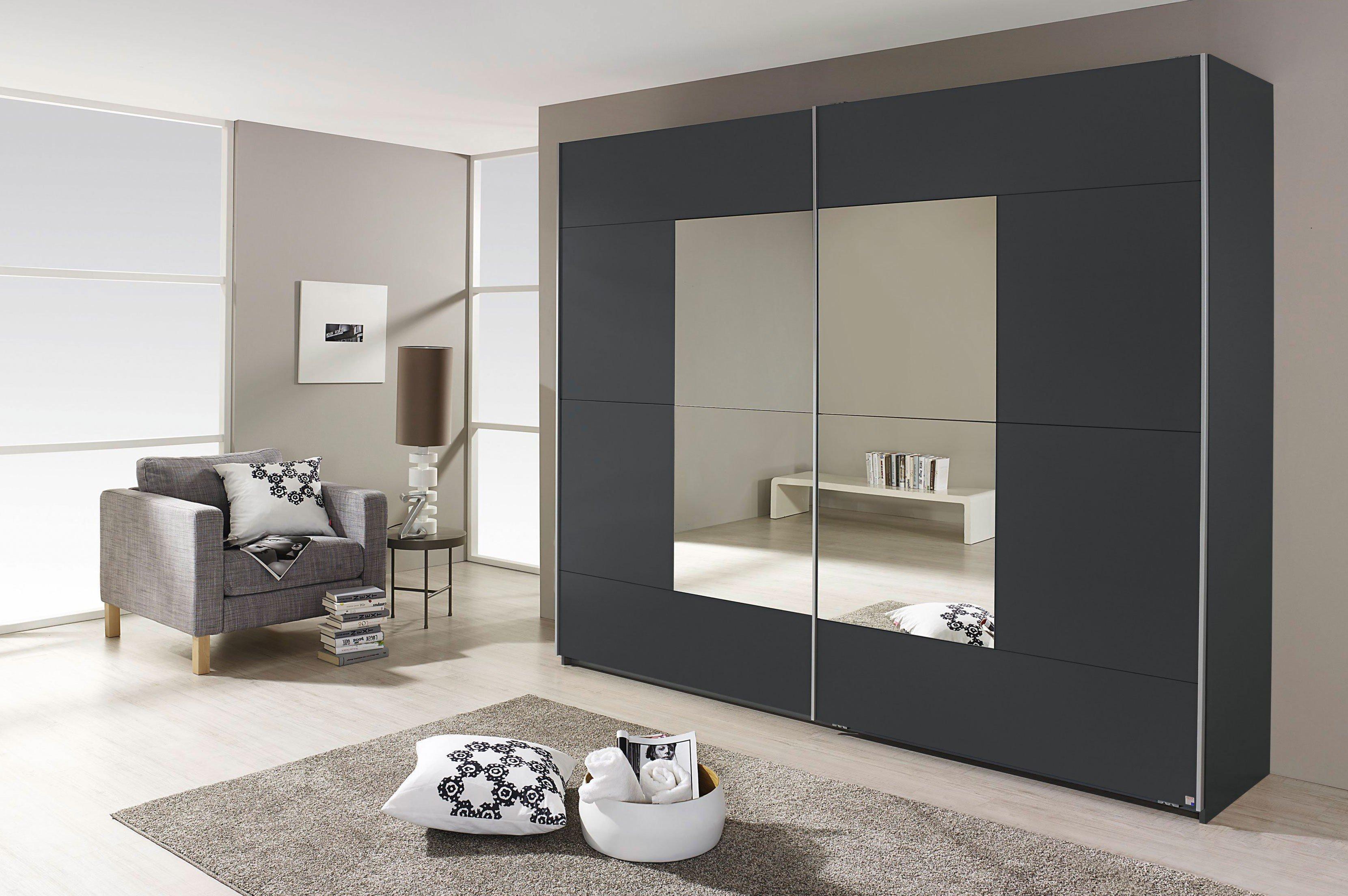 Schwebetürenschrank grau schwarz  Rauch Crato Schrank grau Sonderpreis | Möbel Letz - Ihr Online-Shop