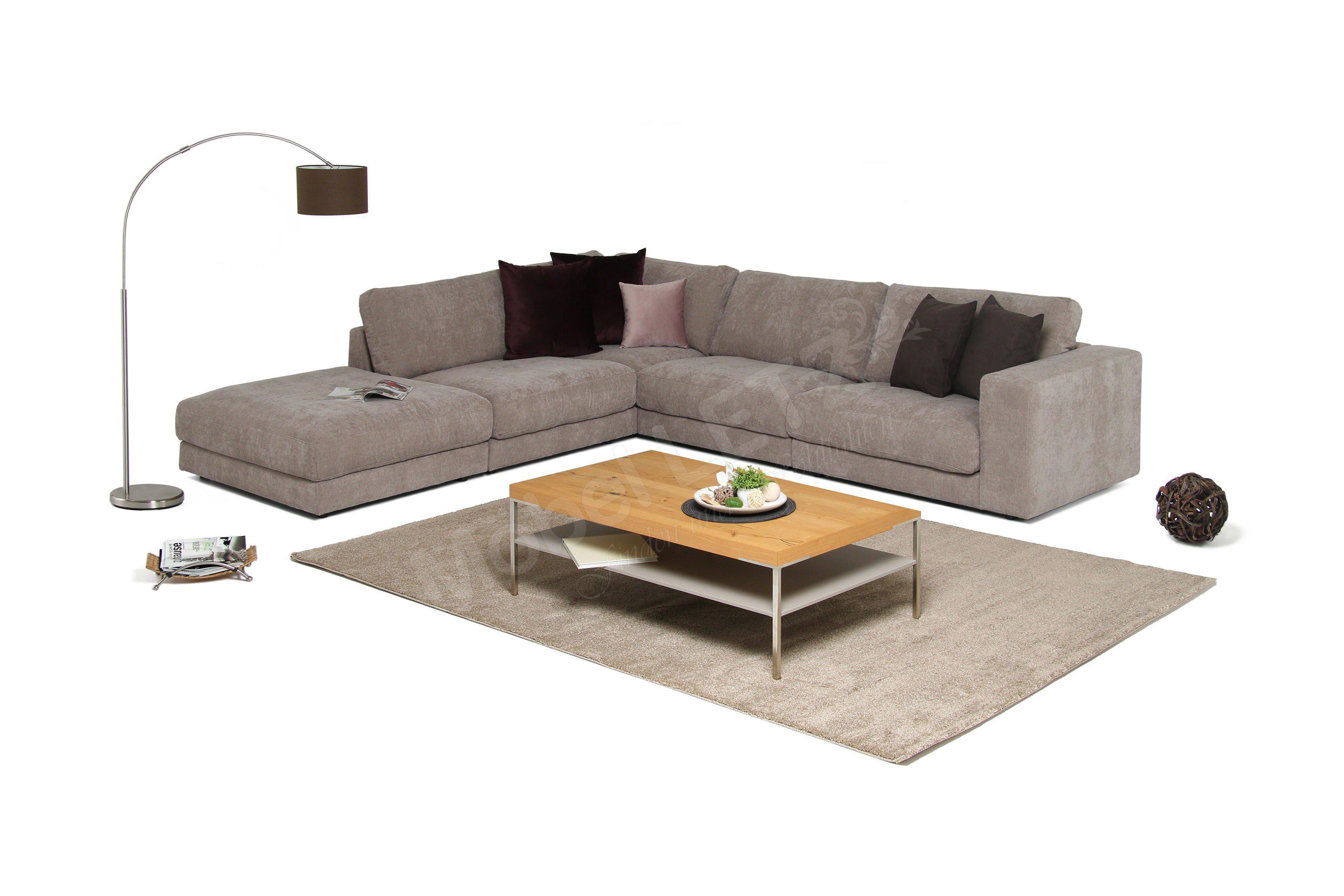Eckcouch taupe  Candy Polstermöbel Giant Sofa in Hellbraun | Möbel Letz - Ihr ...