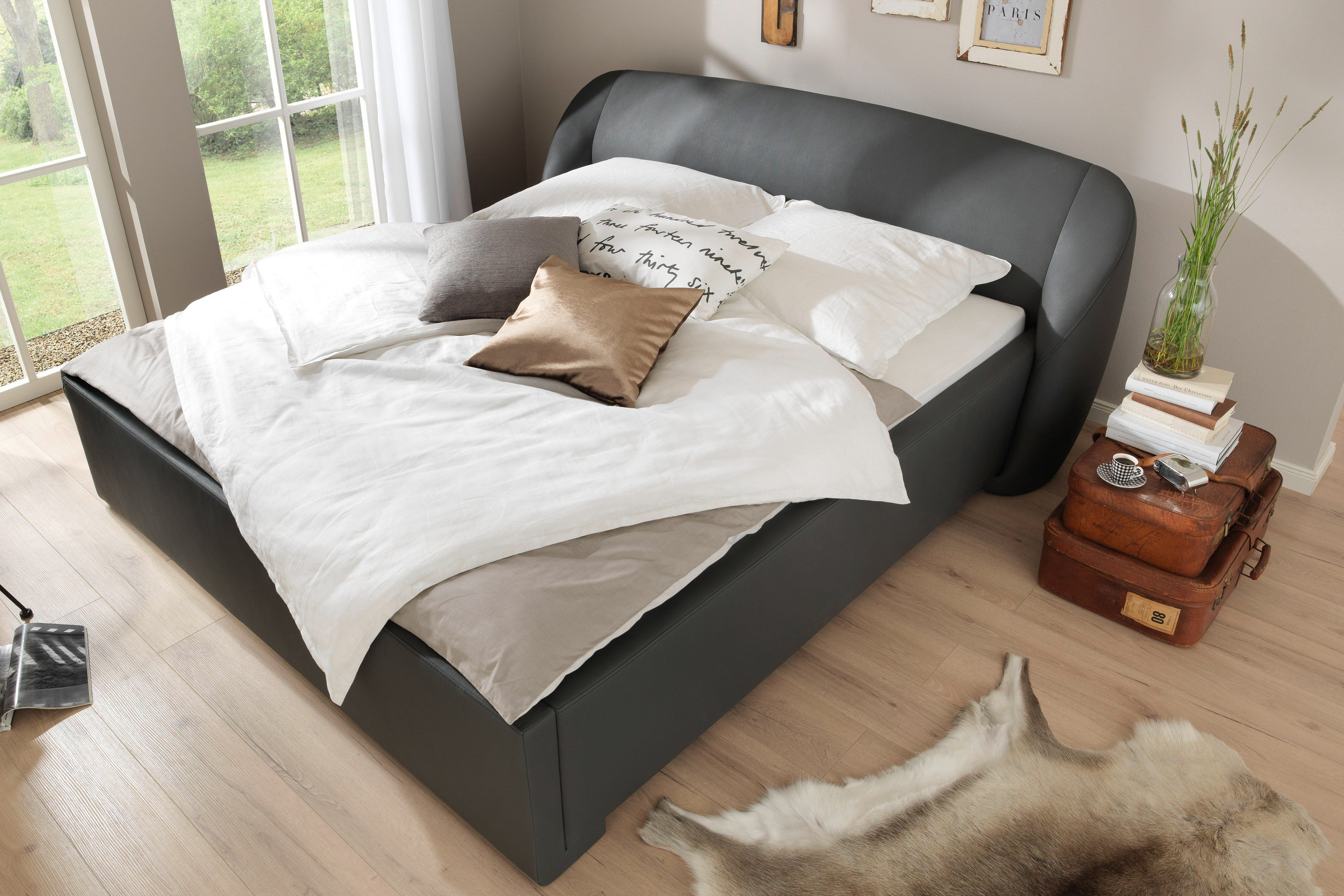 wellem bel polsterbett 03 mood anthrazit m bel letz ihr online shop. Black Bedroom Furniture Sets. Home Design Ideas