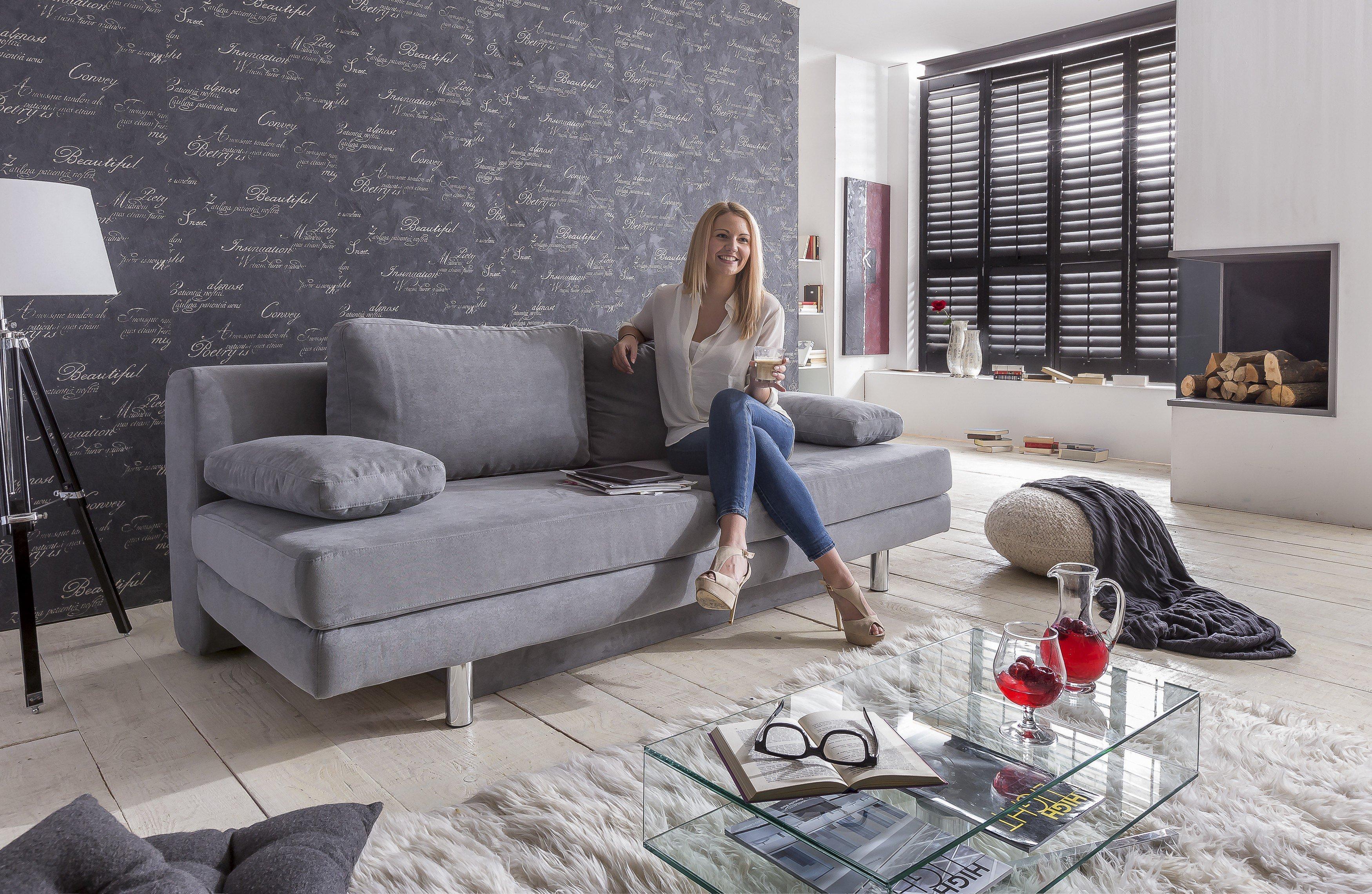 schlafsofa verena von goldammer in grau m bel letz ihr online shop. Black Bedroom Furniture Sets. Home Design Ideas