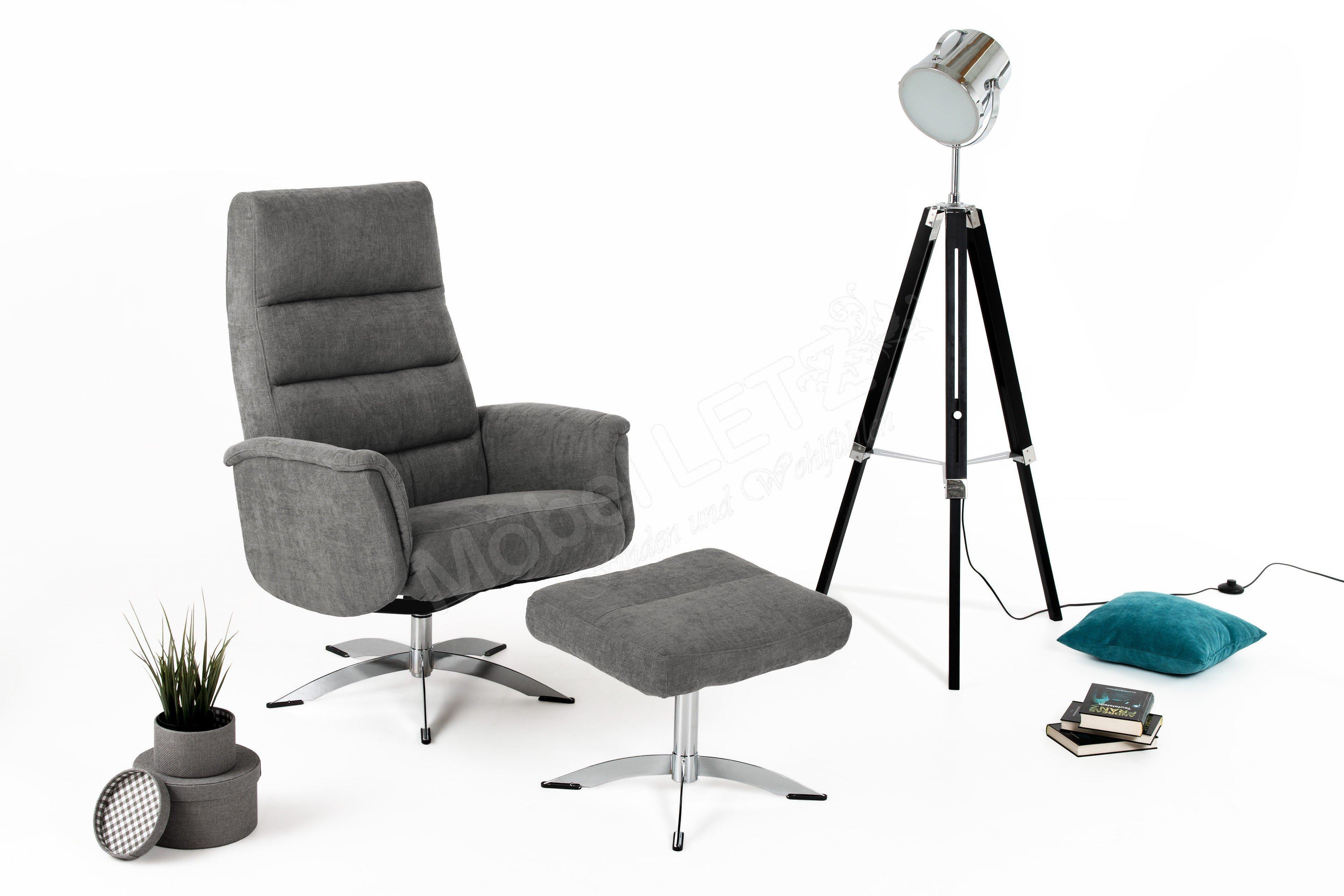 Hjort Knudsen 3252 TV-Sessel hellgrau | Möbel Letz - Ihr Online-Shop