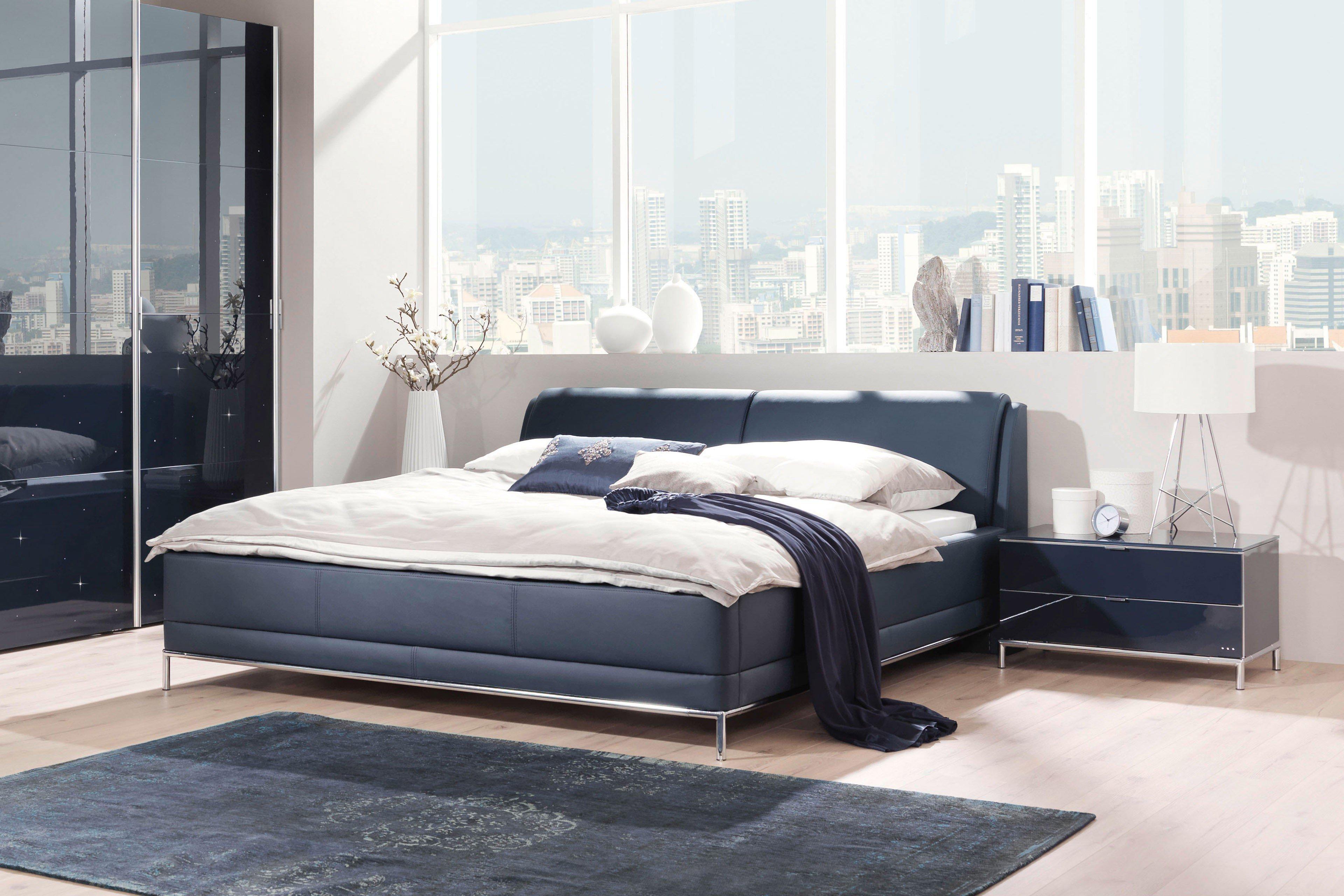 welle mood polsterbett kunstleder blau m bel letz ihr online shop. Black Bedroom Furniture Sets. Home Design Ideas