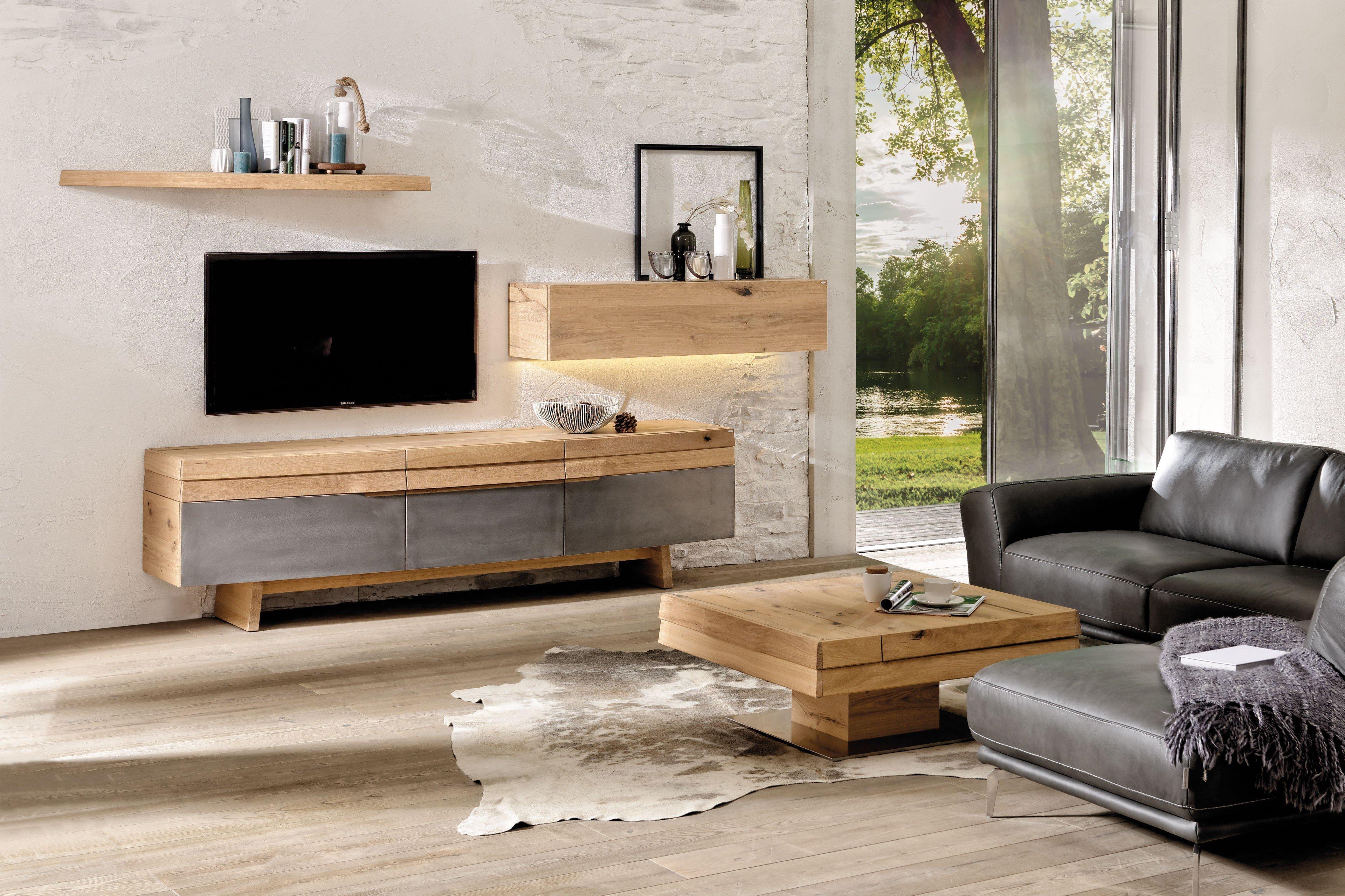 voglauer wohnwand v organo living eiche eisen m bel letz ihr online shop. Black Bedroom Furniture Sets. Home Design Ideas