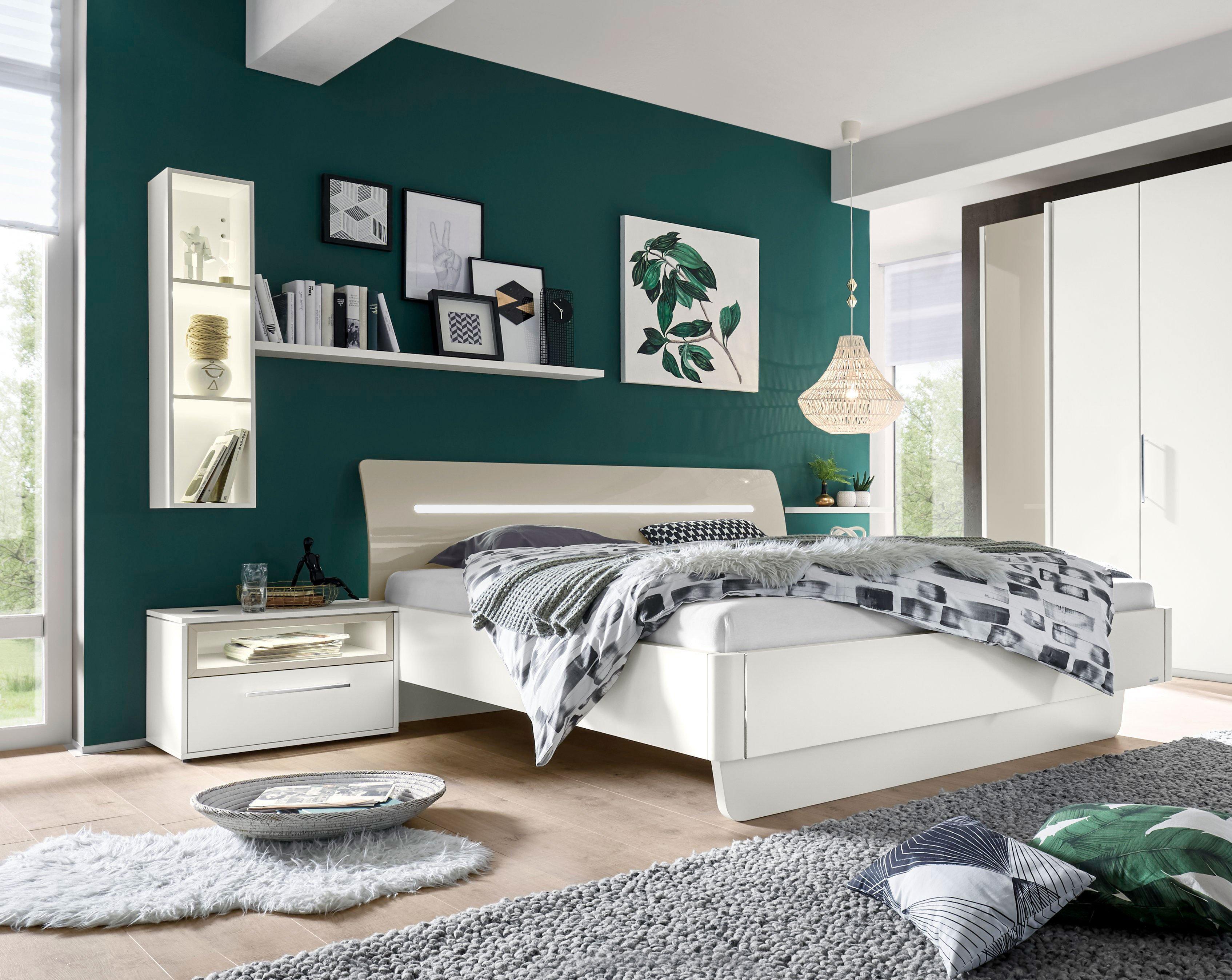 Meo Von Loddenkemper   Schlafzimmer Hochglanz Weiß   Balkeneiche