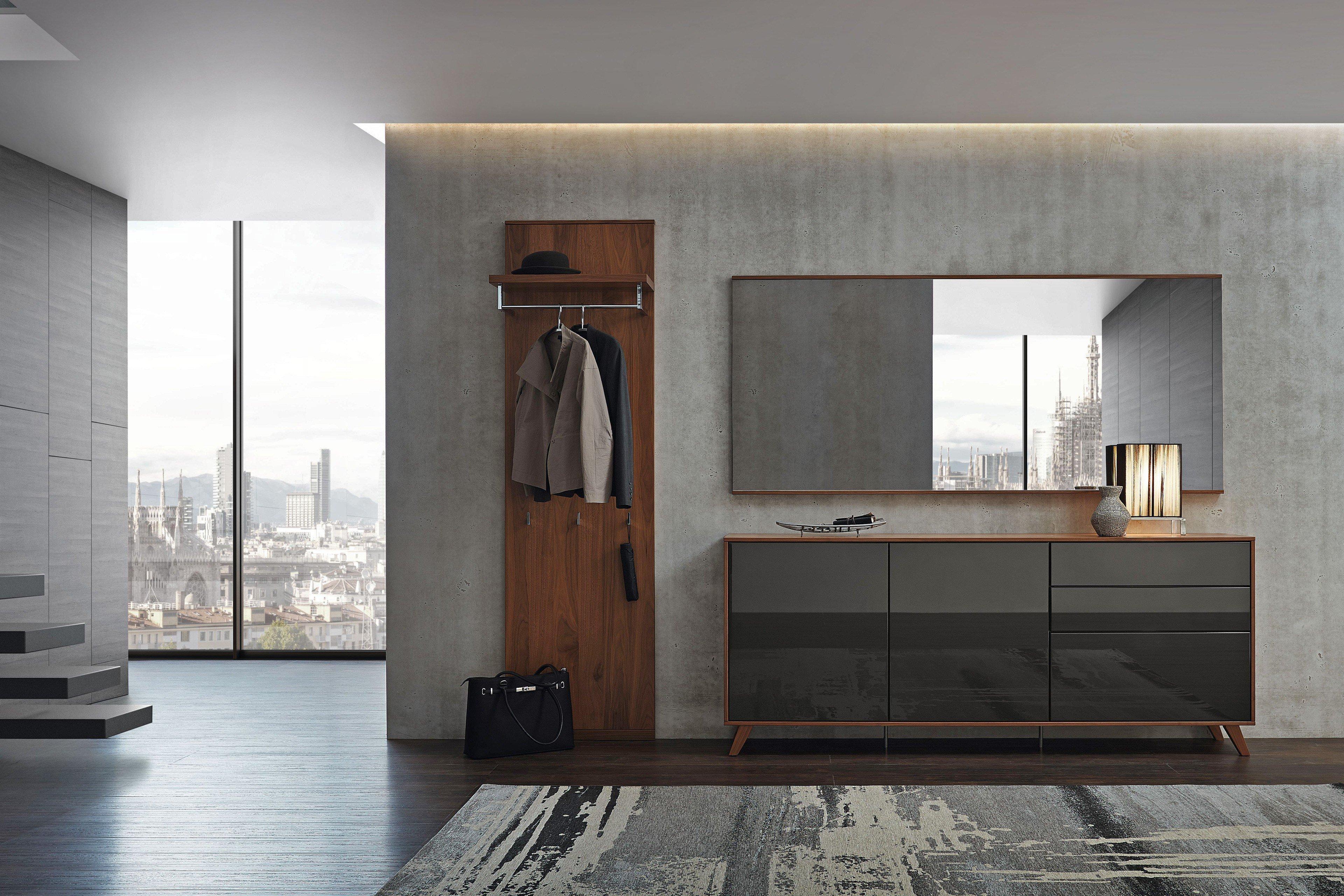 rietberger garderobe nussbaum nova lack graphit m bel. Black Bedroom Furniture Sets. Home Design Ideas