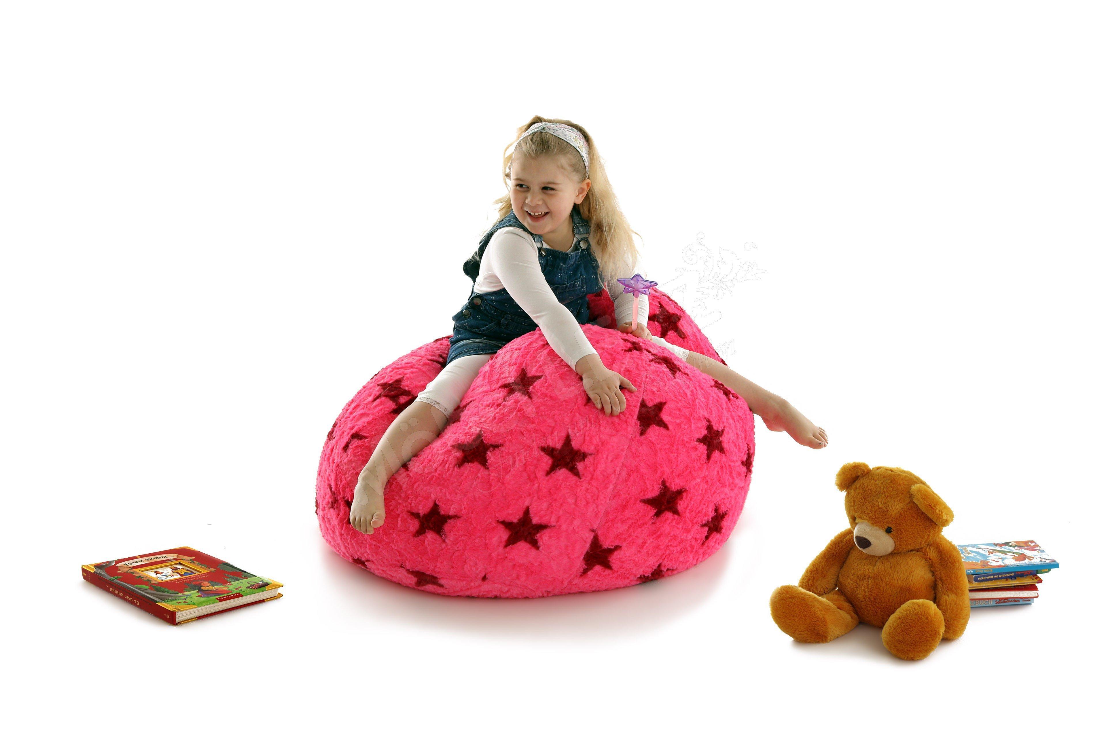 Sitzsack Beanbag Fluffy Stars Xl Von Magma Heimtex Pink Mit Sternen
