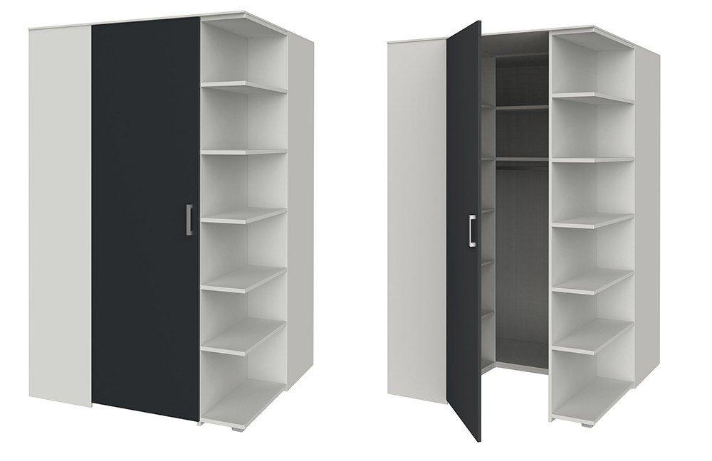 eck kleiderschrank von r hr cadre wei anthrazit m bel letz ihr online shop. Black Bedroom Furniture Sets. Home Design Ideas