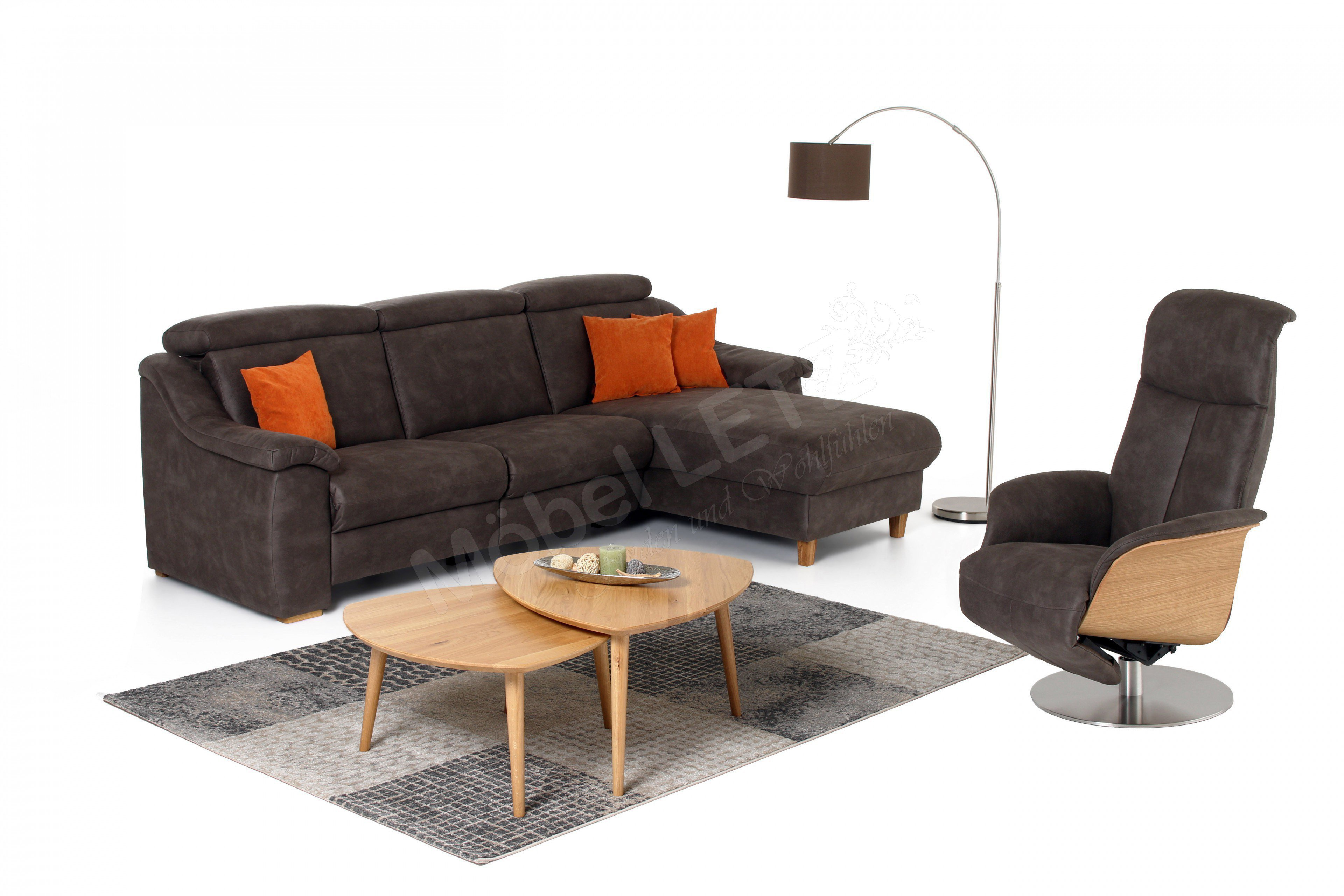 skandinavische m bel jarven ecksofa in braun m bel letz. Black Bedroom Furniture Sets. Home Design Ideas