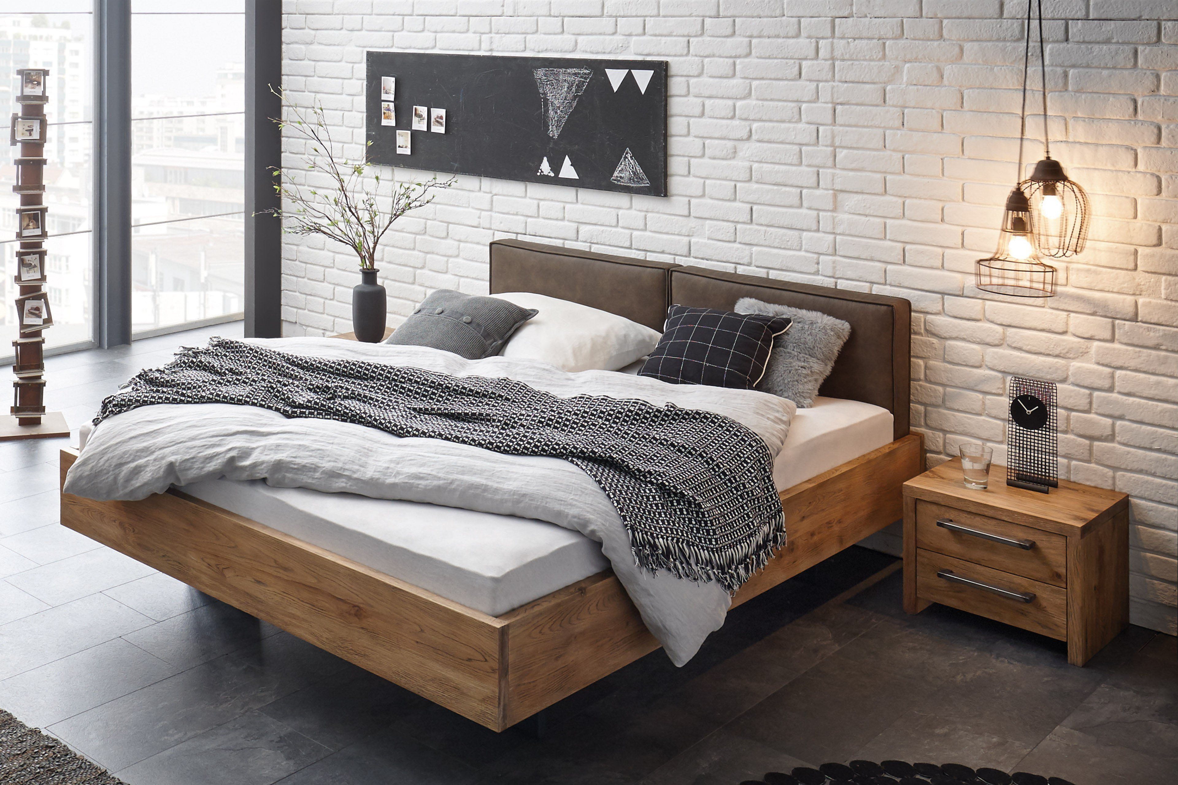 hasena oak vintage bett vilo wildeiche m bel letz ihr online shop. Black Bedroom Furniture Sets. Home Design Ideas