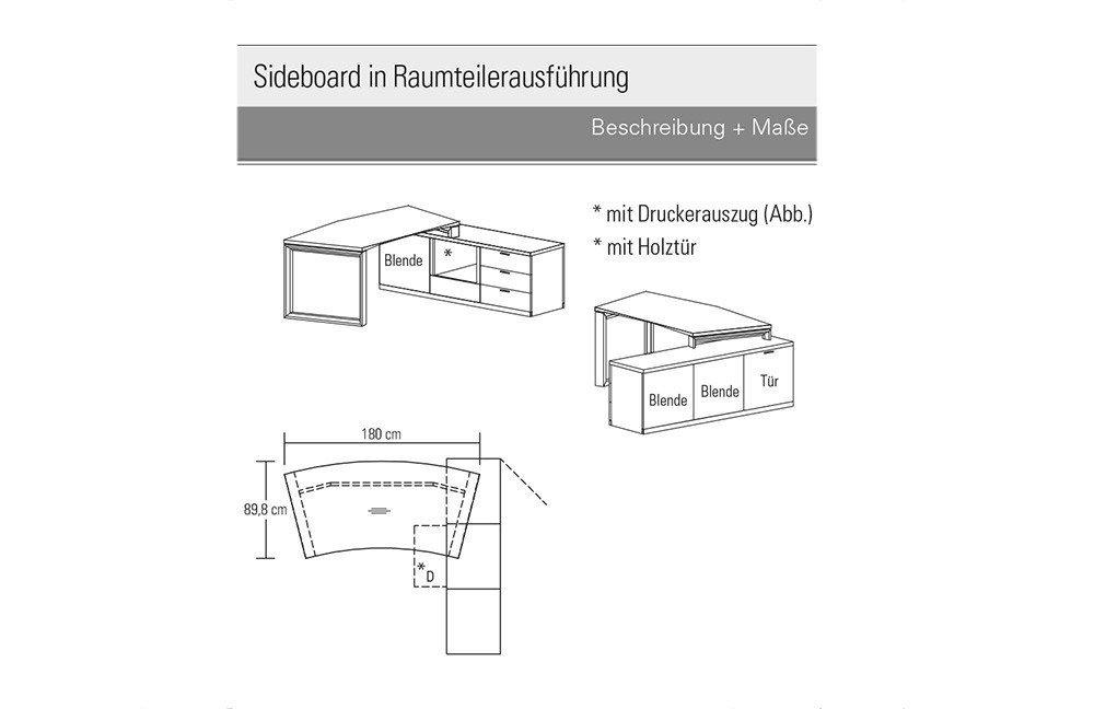 Schreibtisch skizze  Rietberger Schreibtisch L100 Kernesche/ weiß | Möbel Letz - Ihr ...