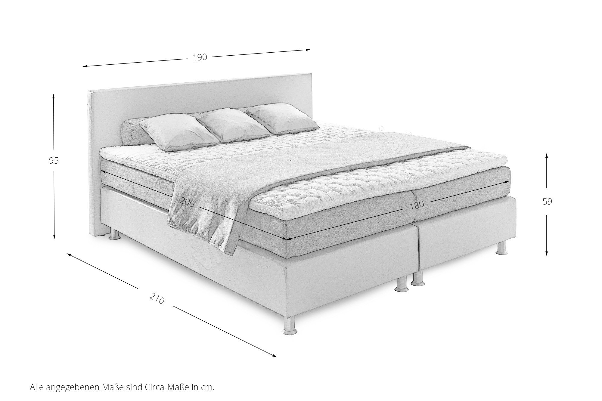 oschmann belcanto luxus boxspringbett in kunstleder beige m bel letz ihr online shop. Black Bedroom Furniture Sets. Home Design Ideas
