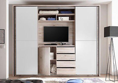 cinema kleiderschrank mit tv aussparung pol power m bel letz ihr online shop. Black Bedroom Furniture Sets. Home Design Ideas
