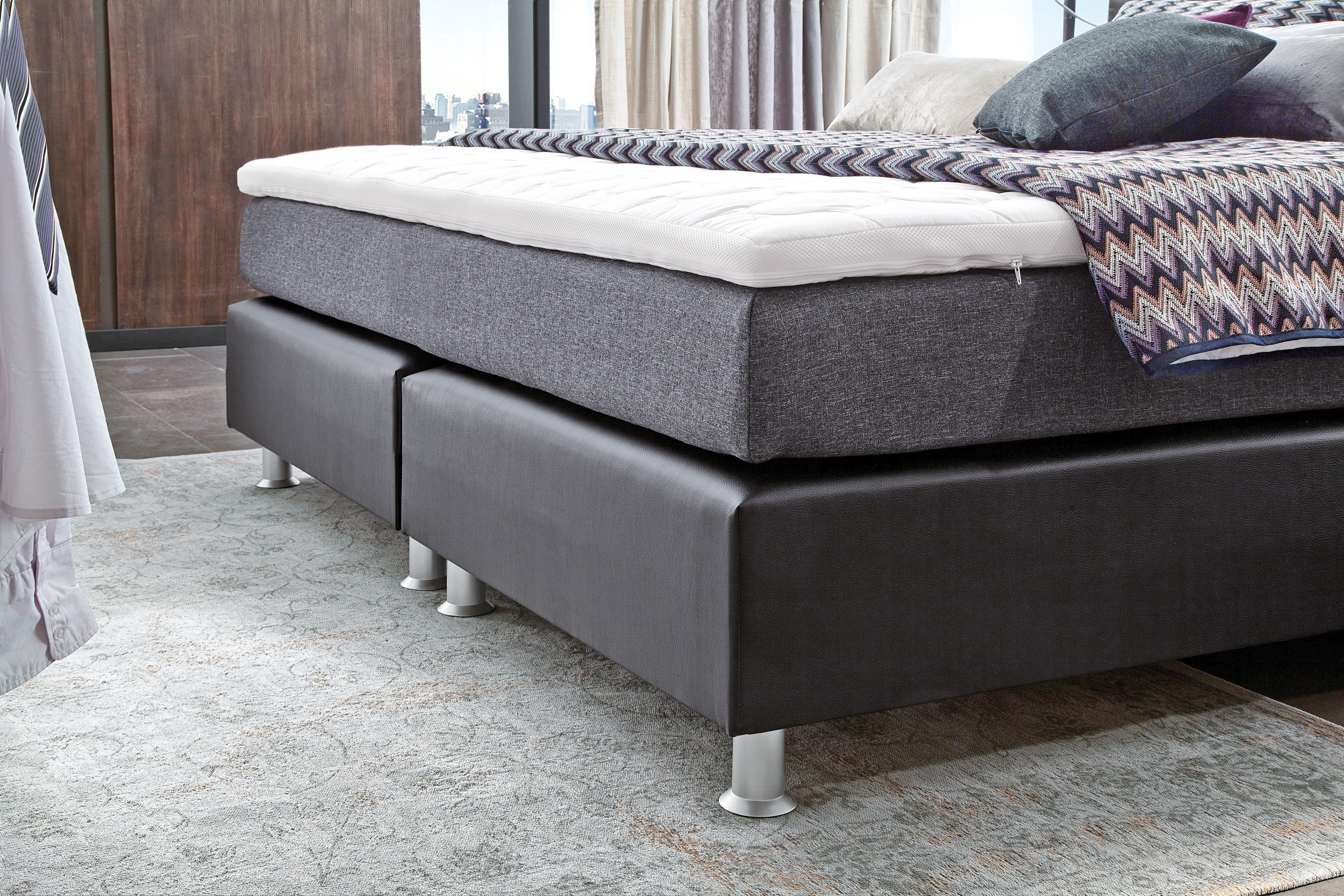 oschmann belcanto luxus boxspringbett in kunstleder schwarz m bel letz ihr online shop. Black Bedroom Furniture Sets. Home Design Ideas