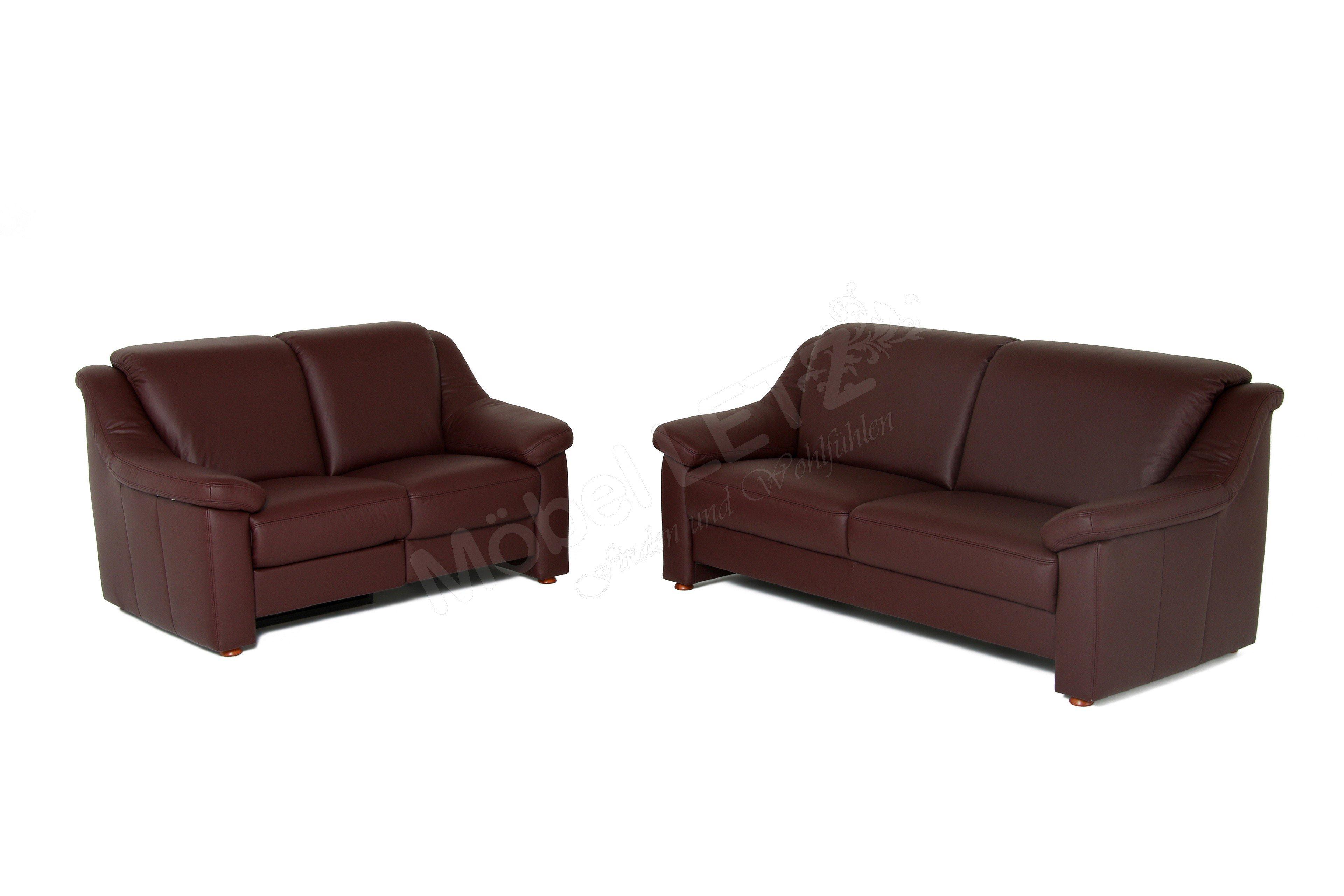 gruber polsterm bel genesis ledersofa rotbraun m bel letz ihr online shop. Black Bedroom Furniture Sets. Home Design Ideas