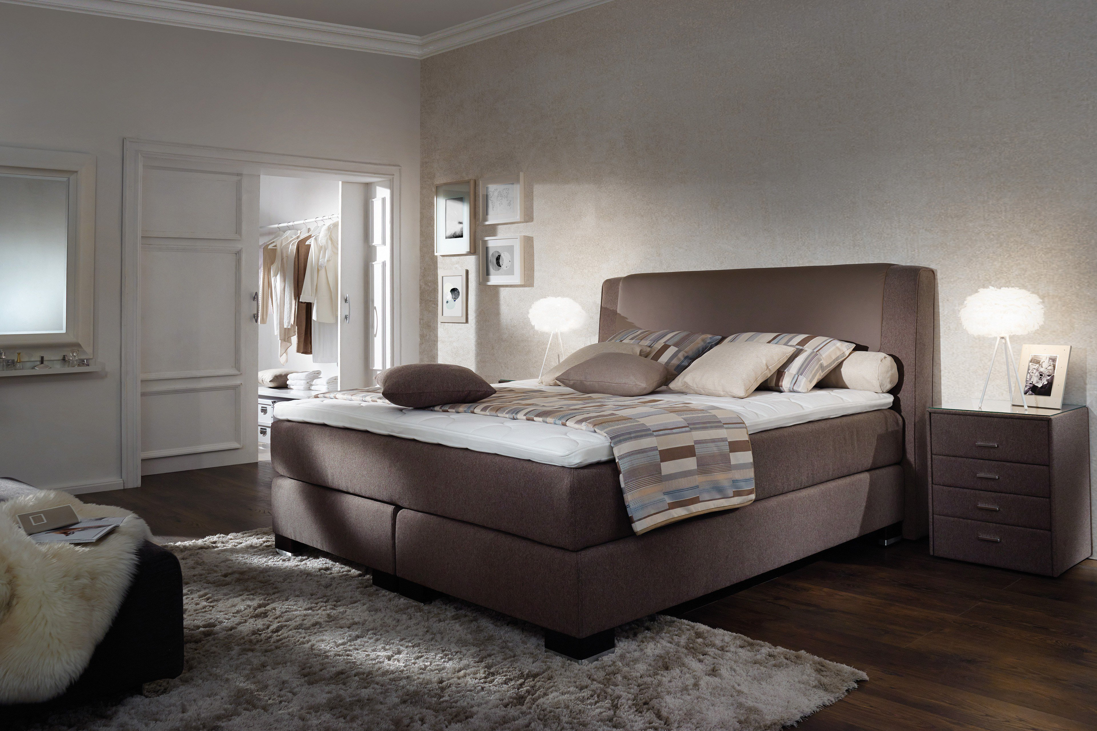oschmann belcanto marina boxspringbett in braun schlamm m bel letz ihr online shop. Black Bedroom Furniture Sets. Home Design Ideas