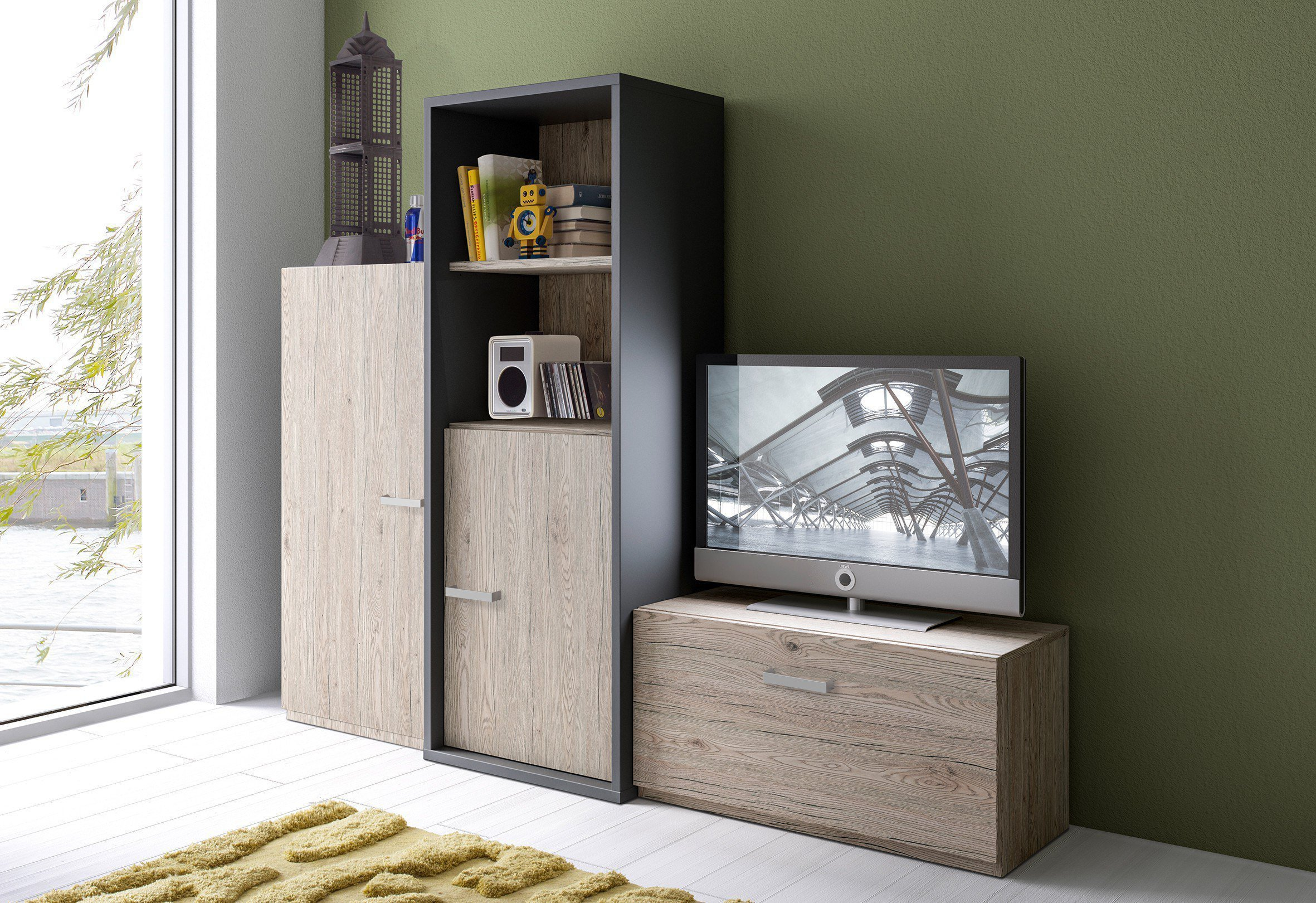 r hr bush jugend wohnwand m bel letz ihr online shop. Black Bedroom Furniture Sets. Home Design Ideas