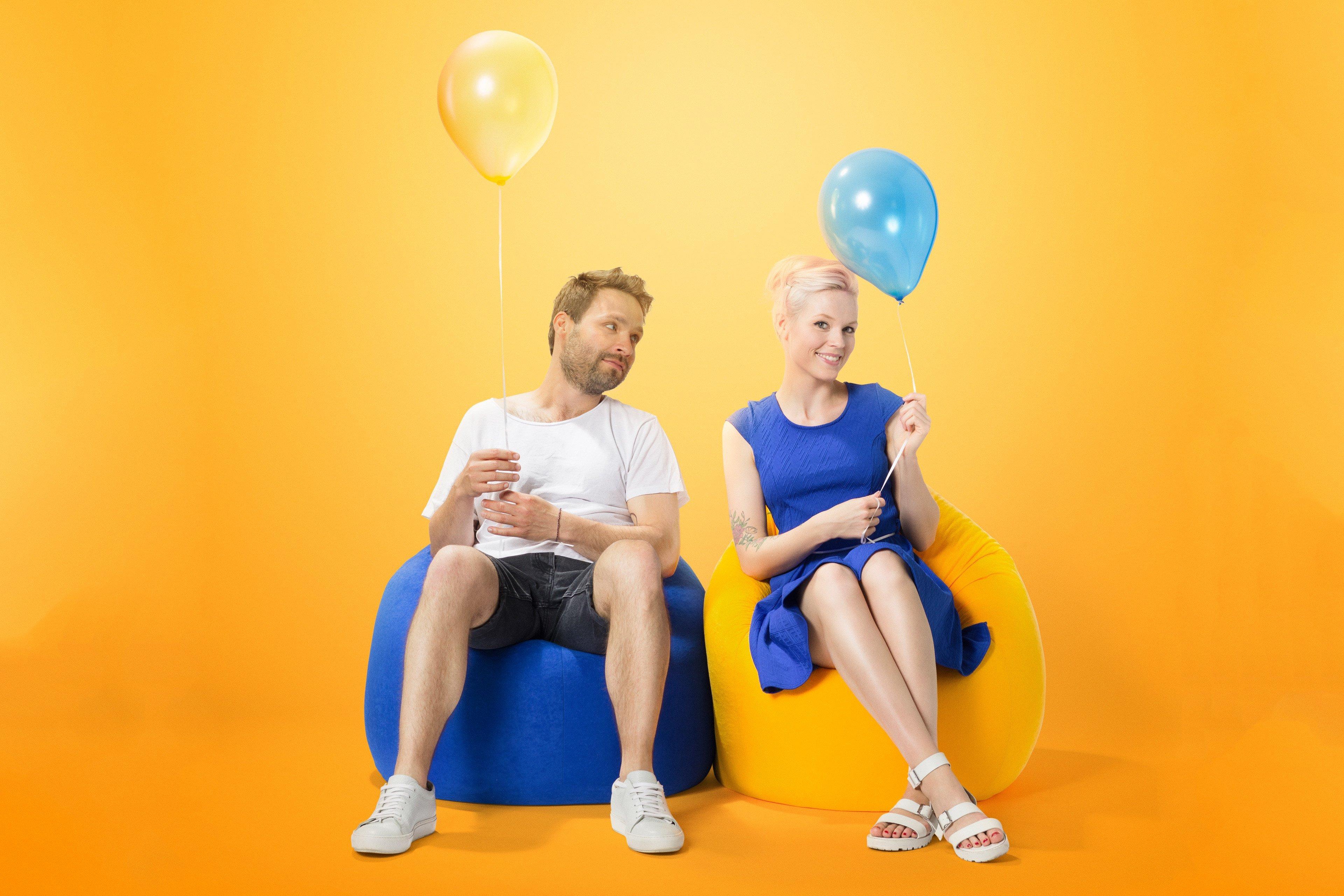 sitzsack beanbag easy l von magma heimtex in blau m bel letz ihr online shop. Black Bedroom Furniture Sets. Home Design Ideas