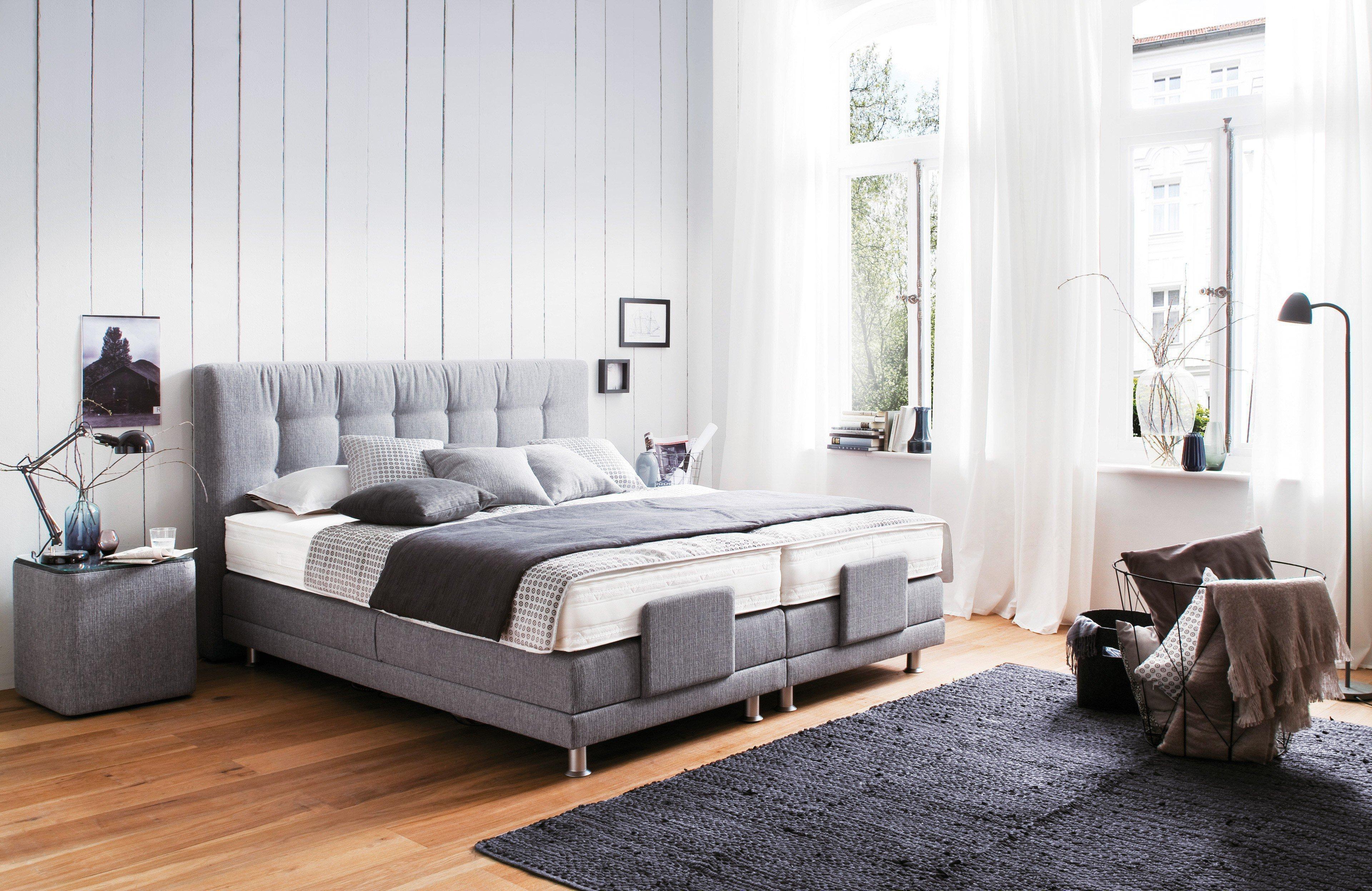 oschmann boxspringbett belcanto lyon mit motor in grau m bel letz ihr online shop. Black Bedroom Furniture Sets. Home Design Ideas