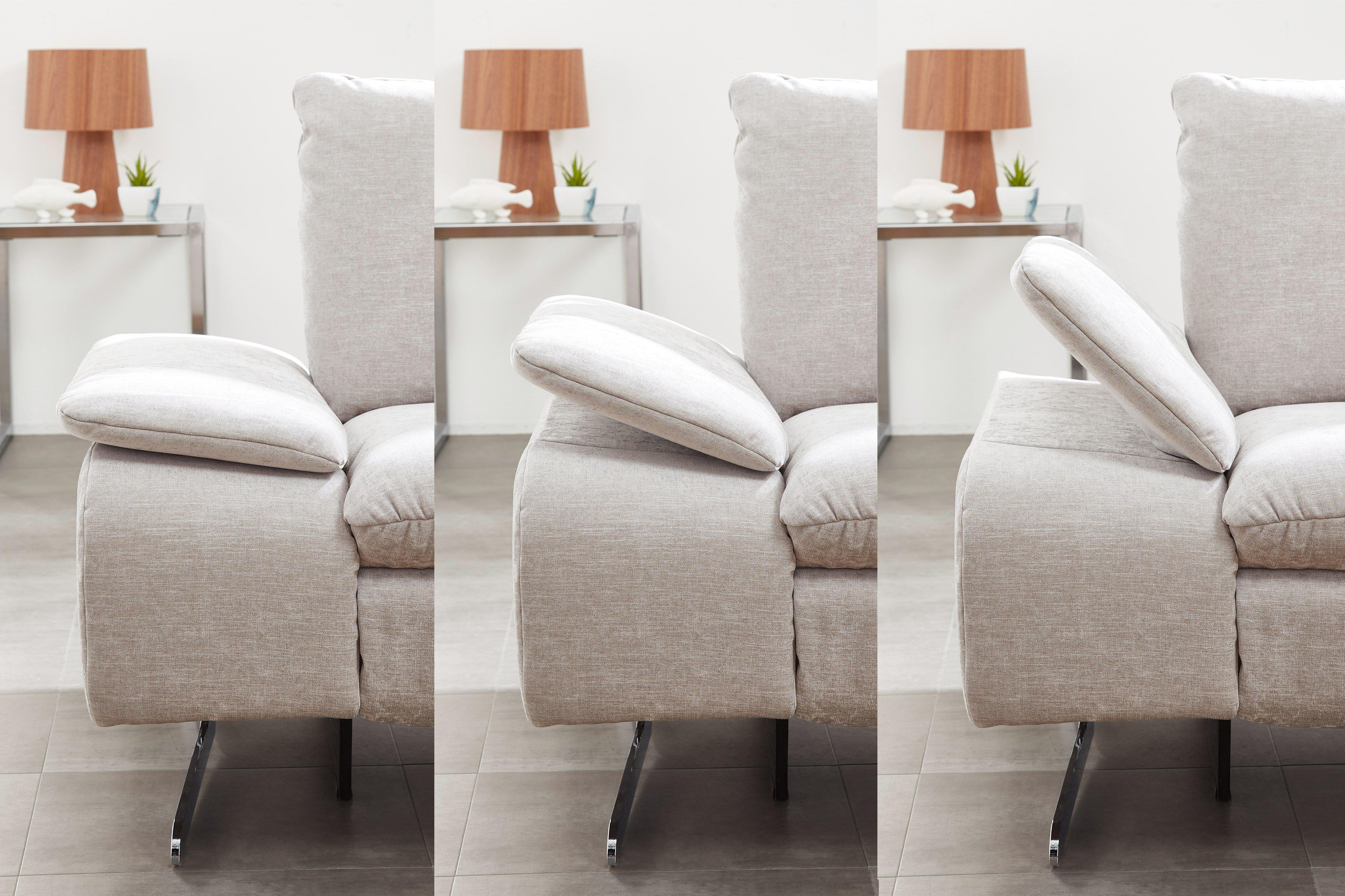 pm oelsa mexico city polsterecke in hellgrau m bel letz ihr online shop. Black Bedroom Furniture Sets. Home Design Ideas