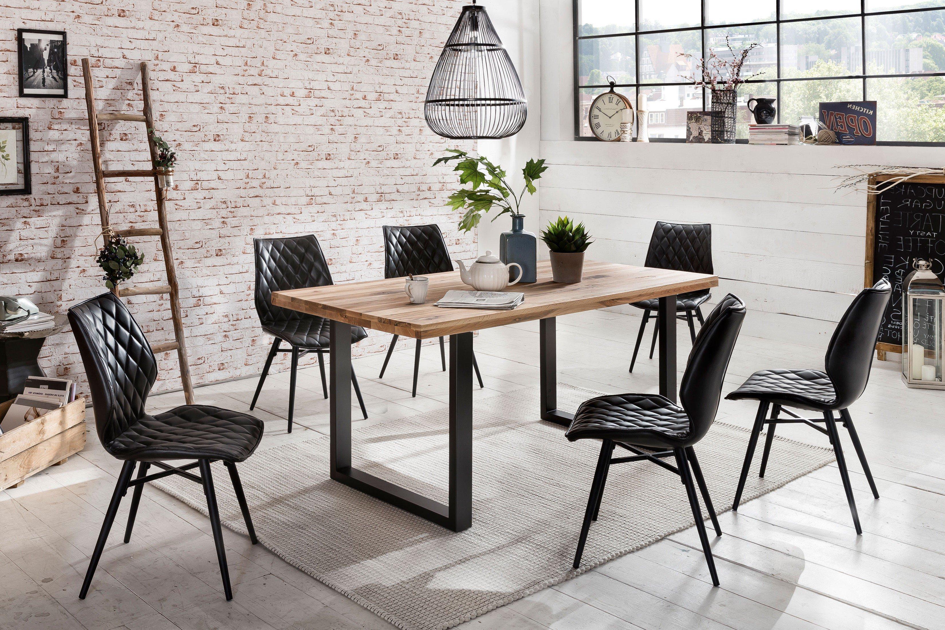 tisch new york balkeneiche natur ge lt. Black Bedroom Furniture Sets. Home Design Ideas