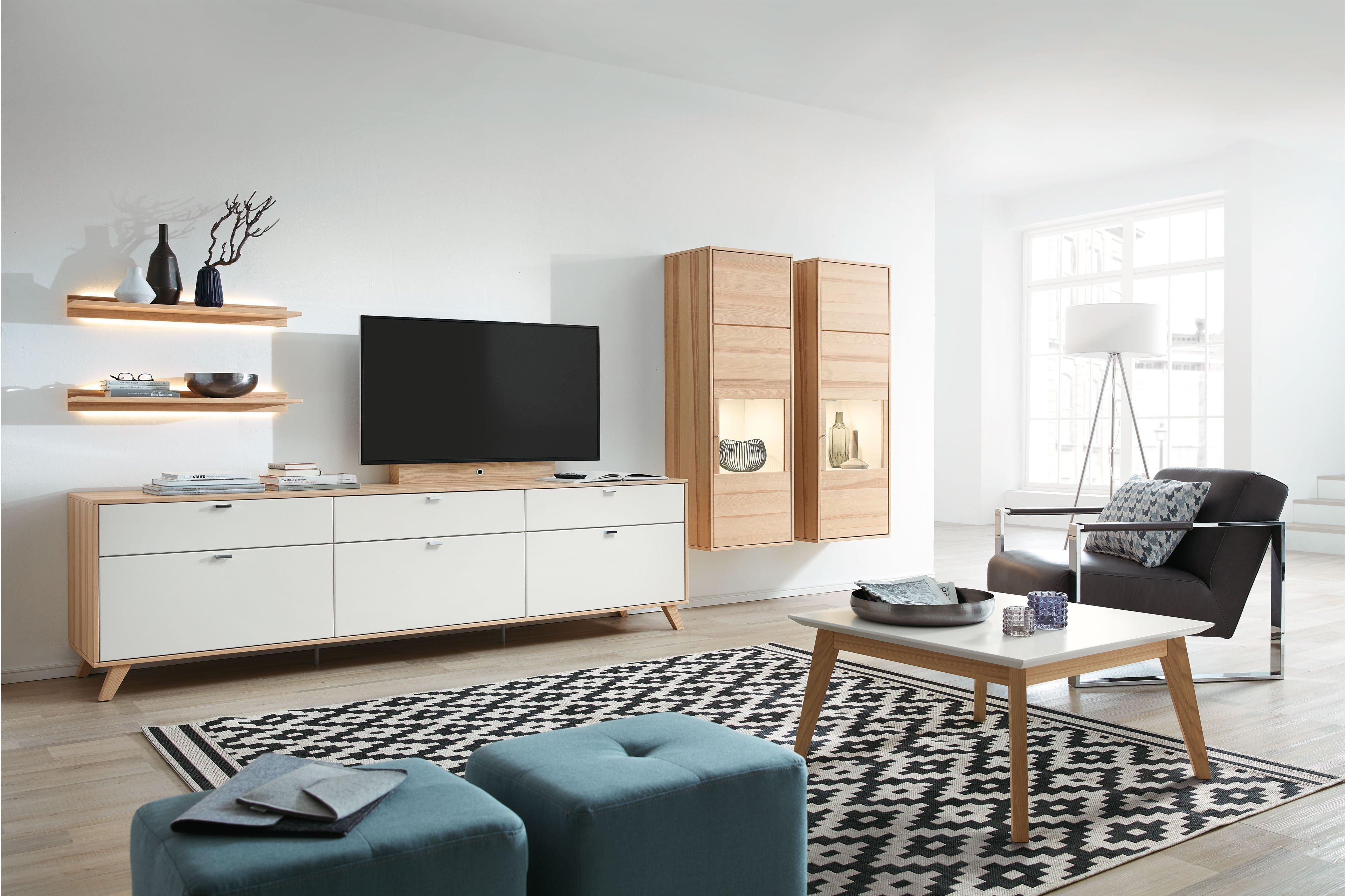 rietberger m belwerke wohnwand deviso kernesche wei. Black Bedroom Furniture Sets. Home Design Ideas