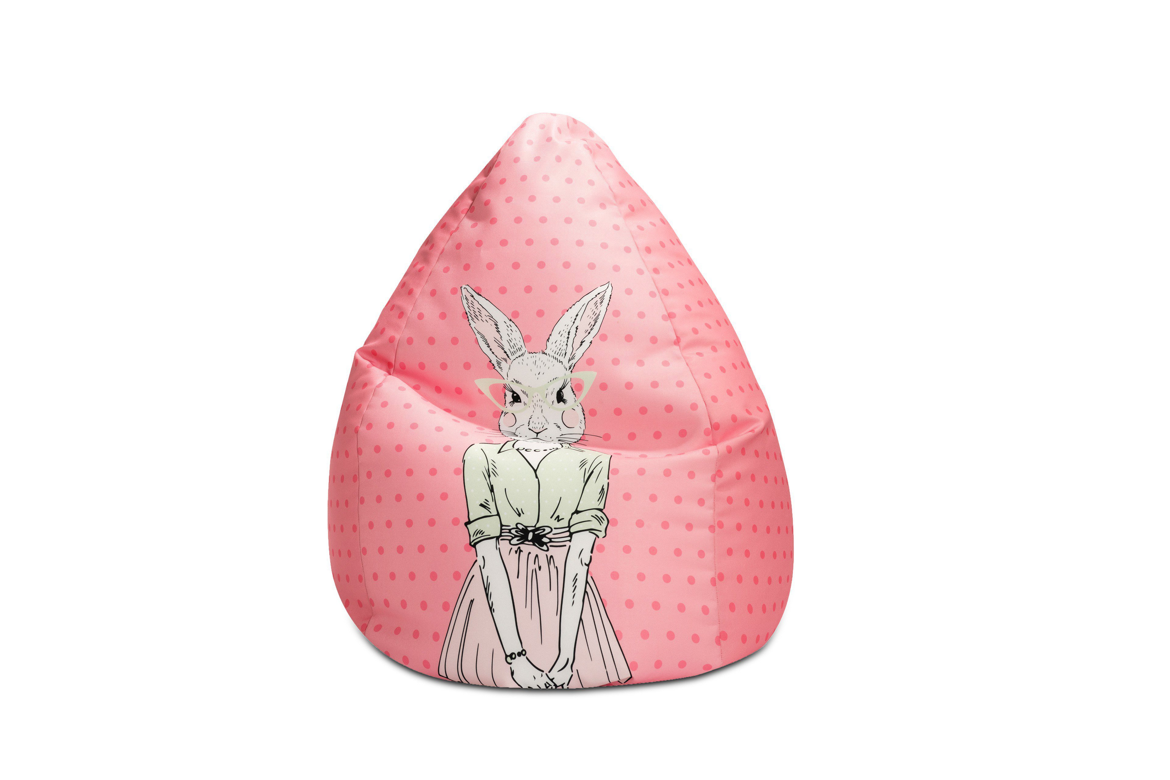 sitzsack beanbag miss rabbit xl von magma heimtex rosa m bel letz ihr online shop. Black Bedroom Furniture Sets. Home Design Ideas
