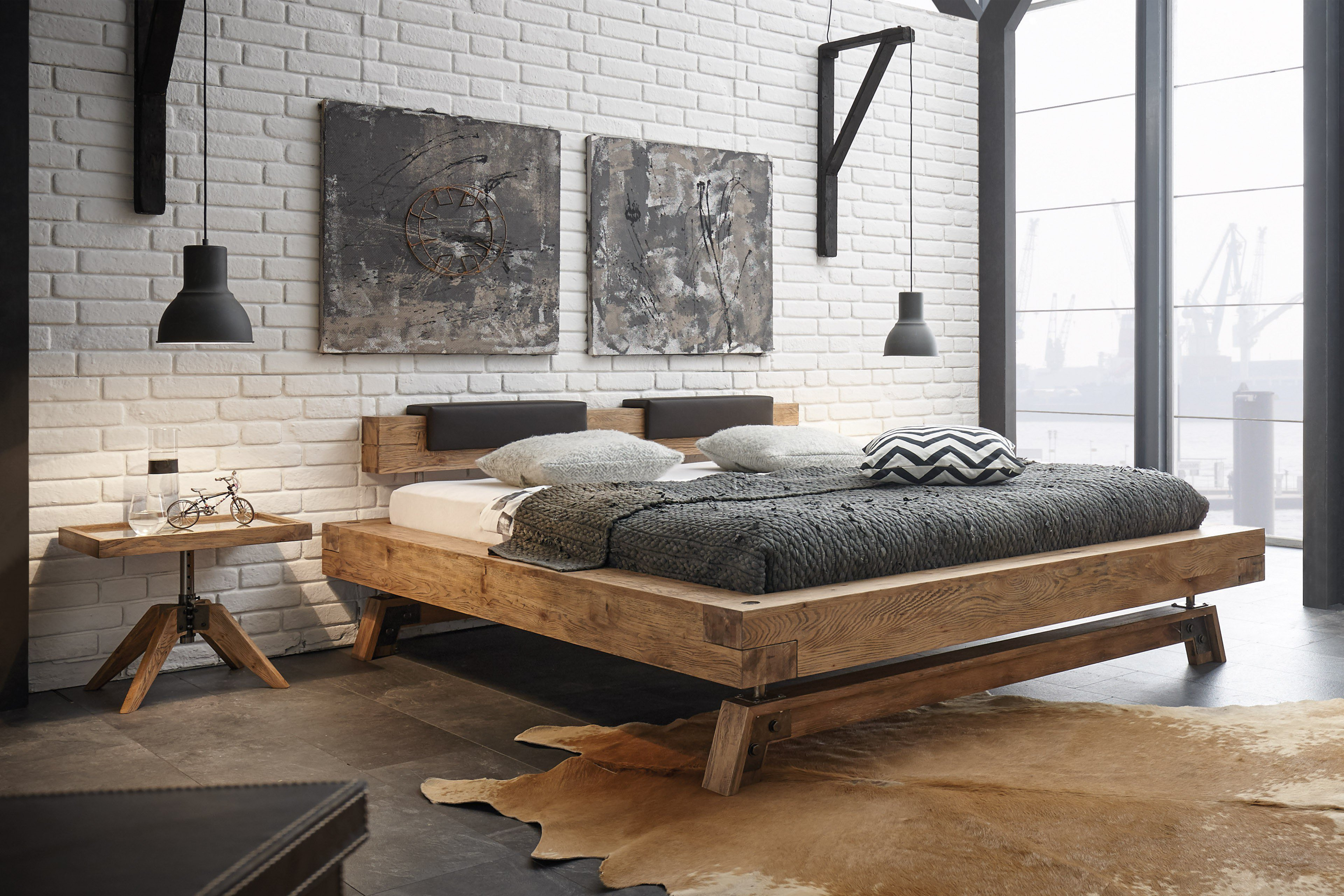 hasena bett wildeiche massiv oak vintage m bel letz. Black Bedroom Furniture Sets. Home Design Ideas